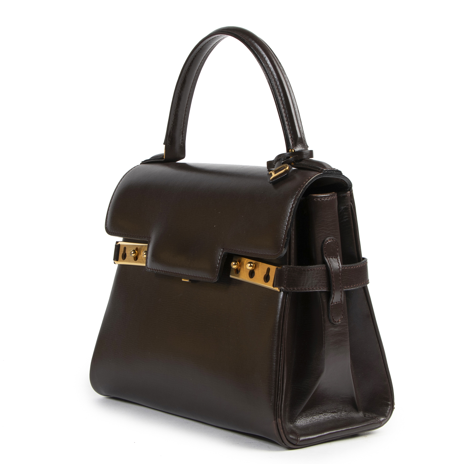 Delvaux Tempete Brown leather PM