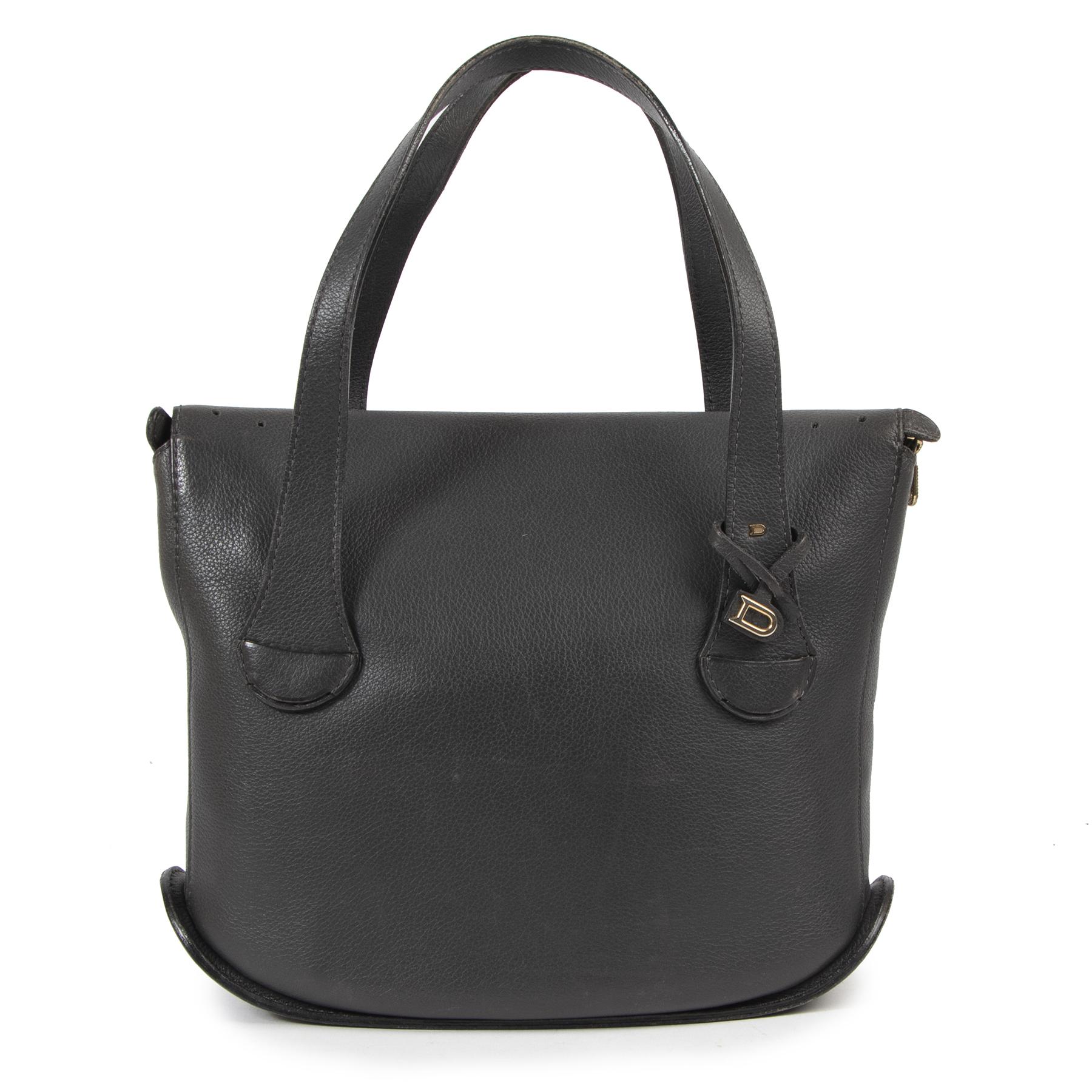 Delvaux Grey Top Handle Bag PM