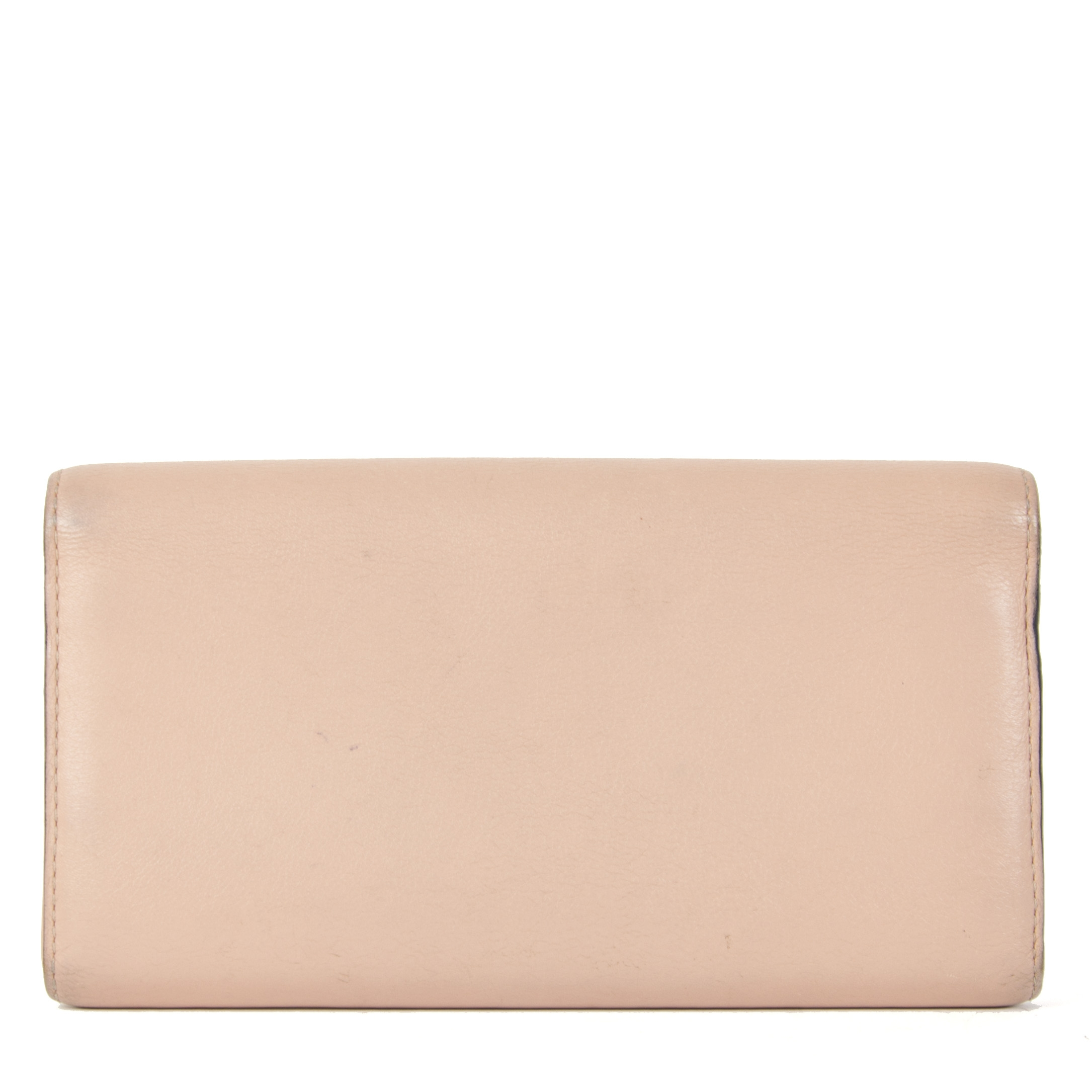 koop veilig online jou tweedehands Delvaux Rose Madame Leather Wallet