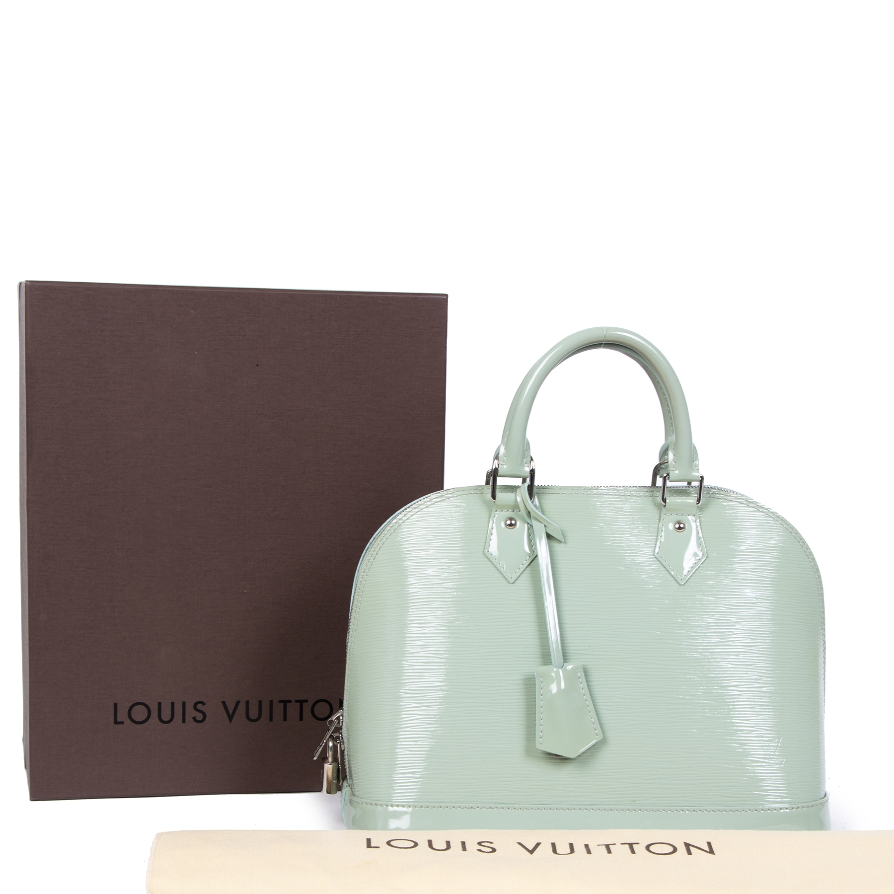 shop 100% authentic Louis Vuitton Mint Green Epi Leather Alma PM