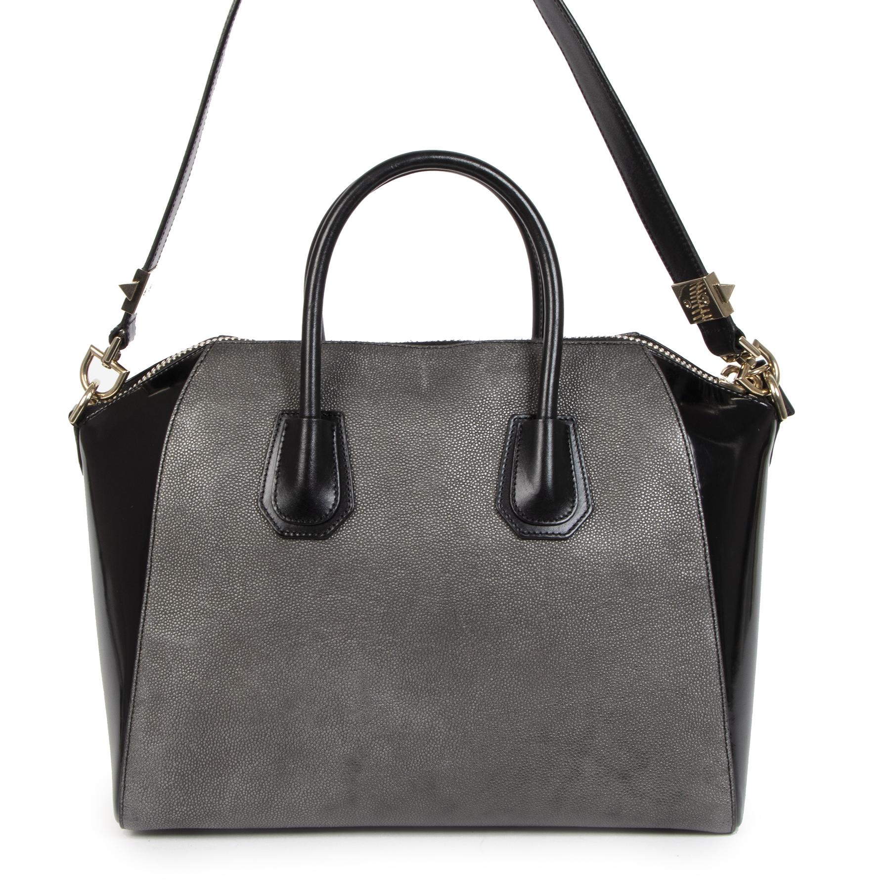 Authentieke Tweedehands Givenchy Medium Antigona Bicolor Bag juiste prijs veilig online shoppen luxe merken webshop winkelen Antwerpen België mode fashion