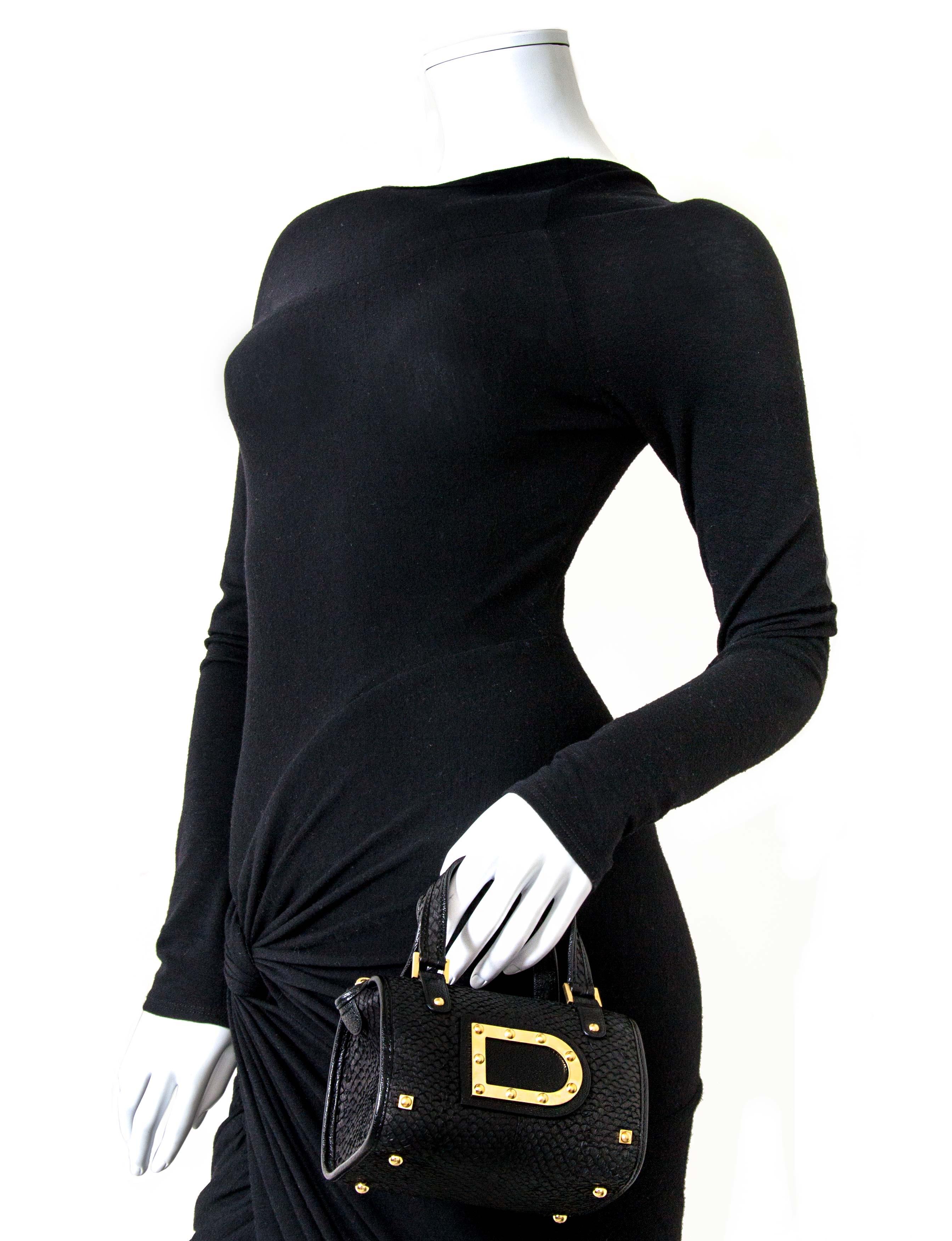15249e96caee ... Delvaux Le Astrid Mini Black Python Evening Bag now for sale at labellov  vintage fashion webshop