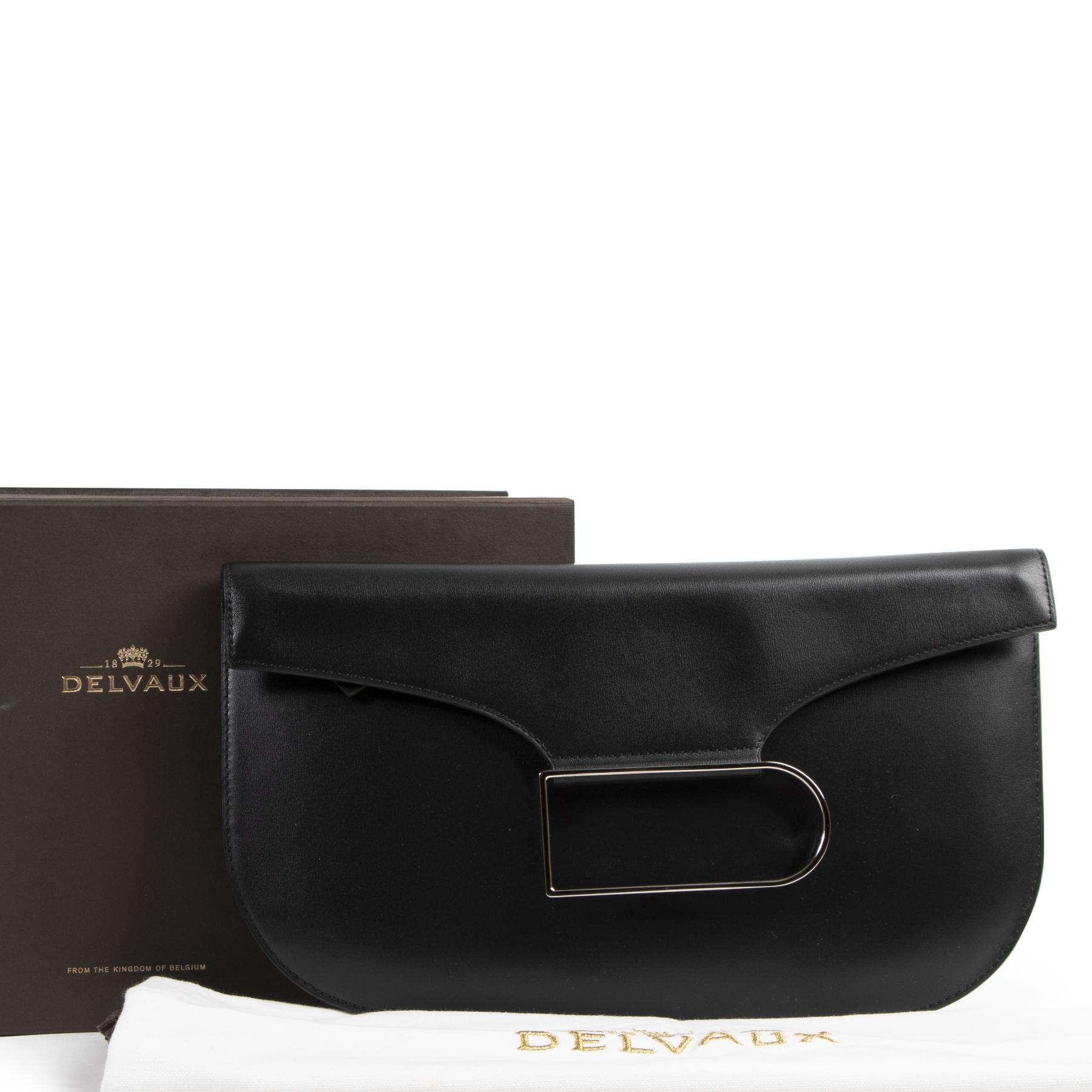 Delvaux Black Double Je Clutch kopen en verkopen aan de beste prijs