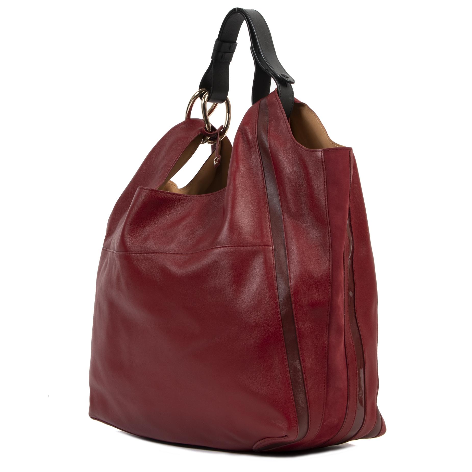 Authentieke Tweedehands Delvaux Rouge de Pourpre Givry With Me Shoulder Bag juiste prijs veilig online shoppen luxe merken webshop winkelen Antwerpen België mode fashion