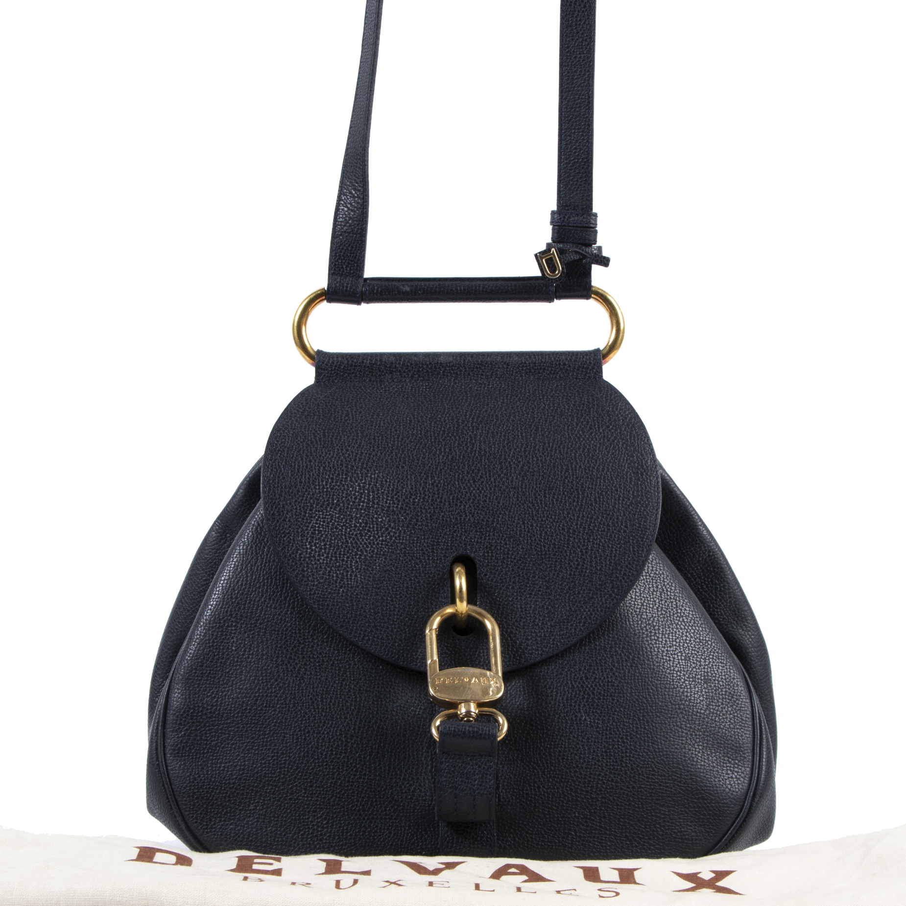 acheter enligne seconde main Delvaux Blue Cerceau Shoulder Bag