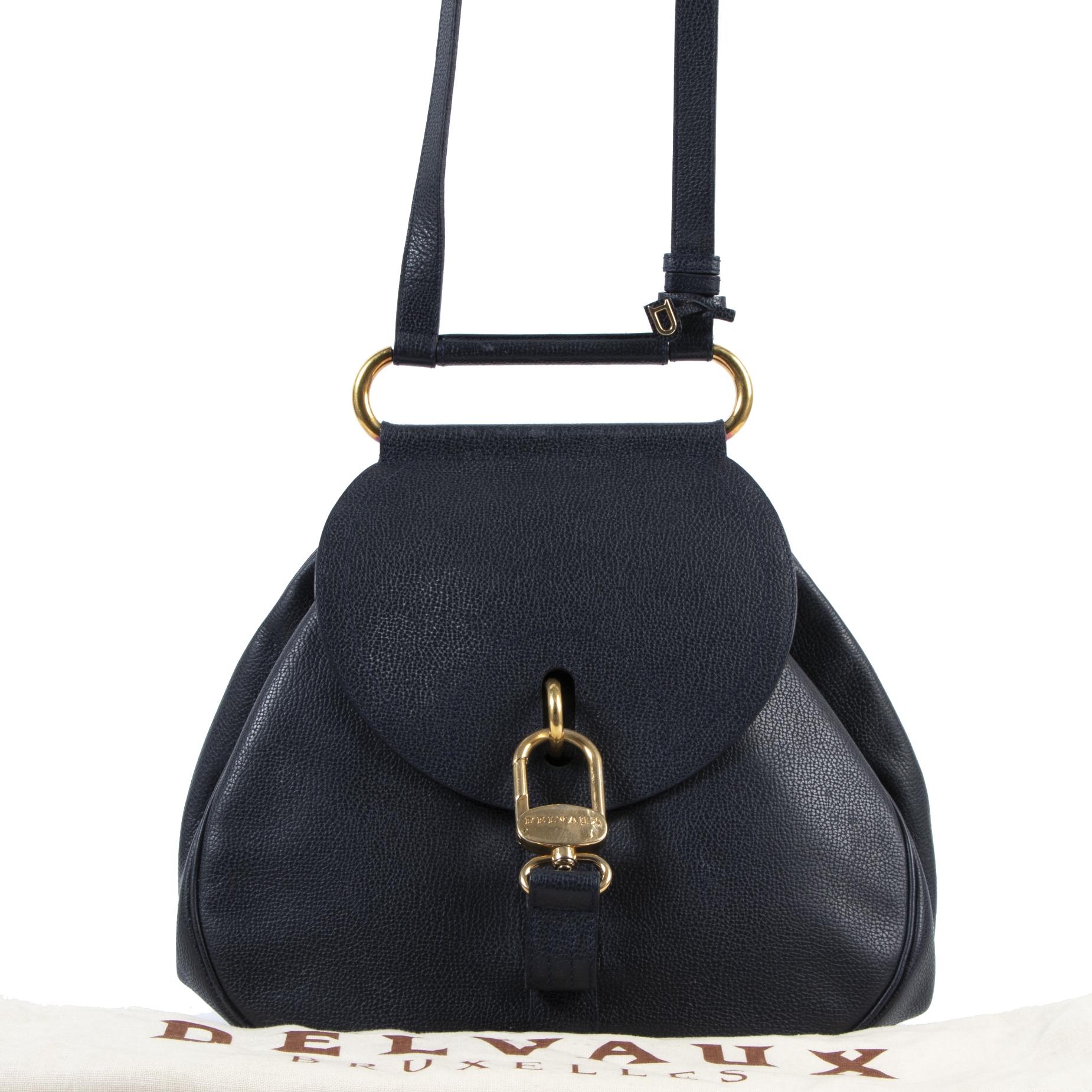 acheter enligne seconde main Delvaux Blue Cerceau Shoulder Bag