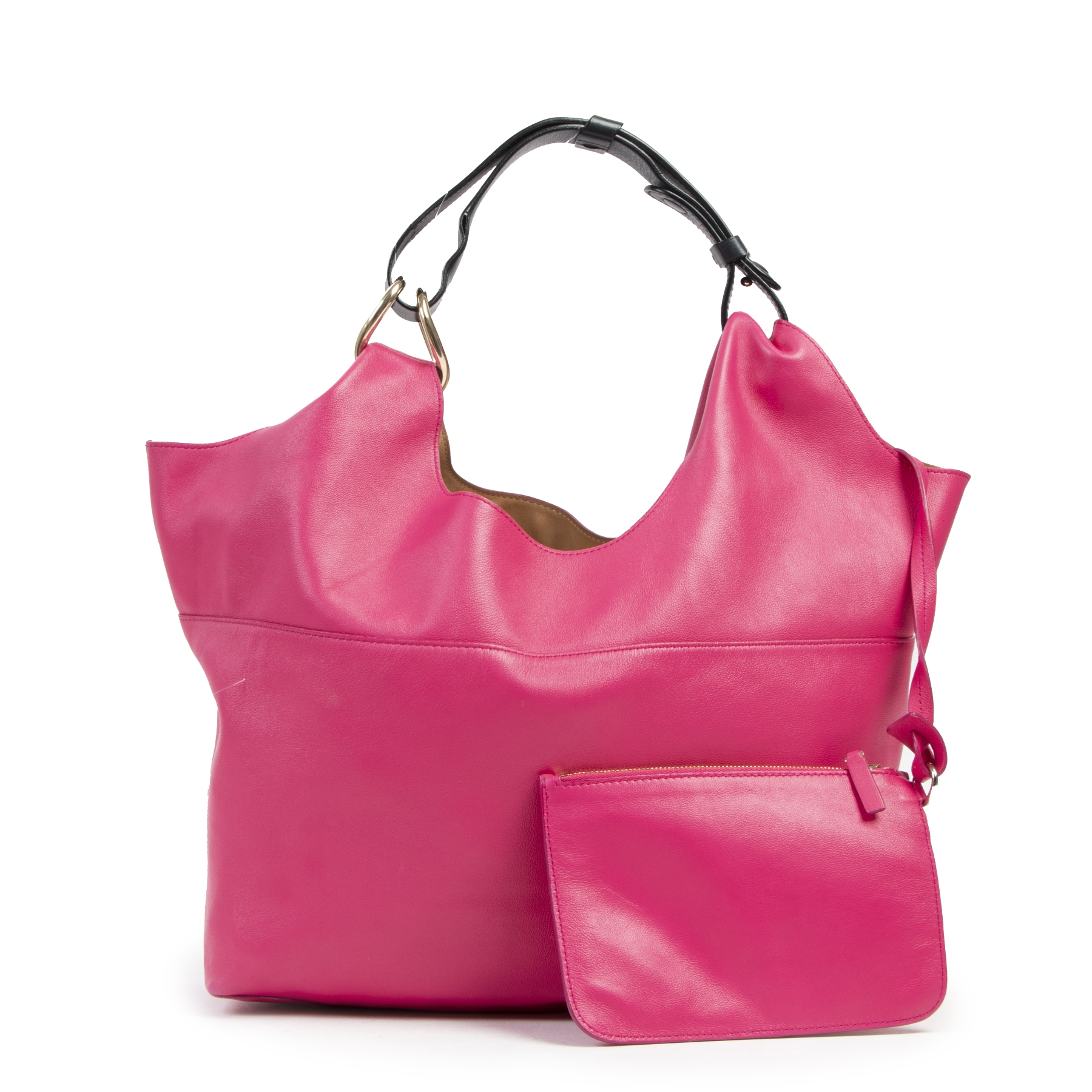 Authentic secondhand Delvaux Pink Leather Le Givry With Me Bag designer bags fashion luxury vintage webshop safe secure online shopping
