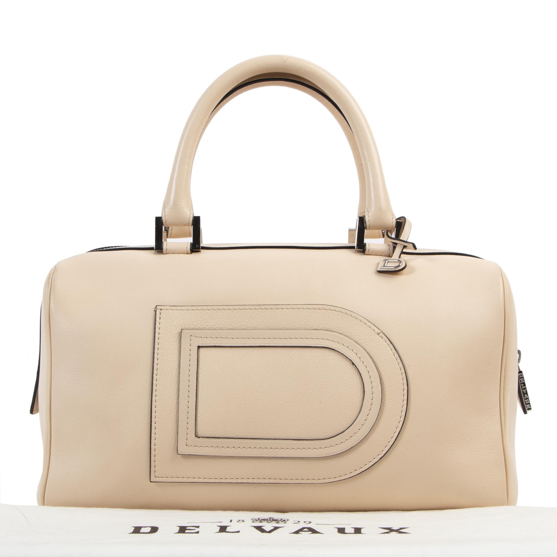 Delvaux Pink Louise Boston Bag