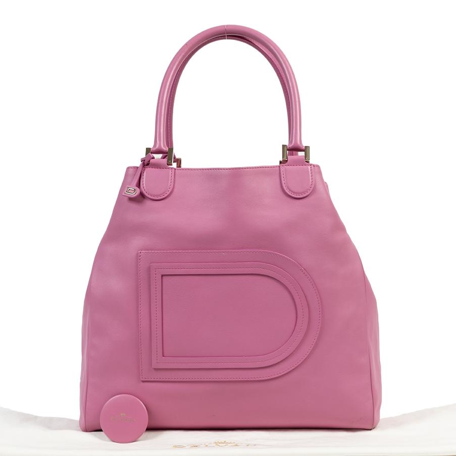 Delvaux Pink Le Louise Gm Shoulder Bag
