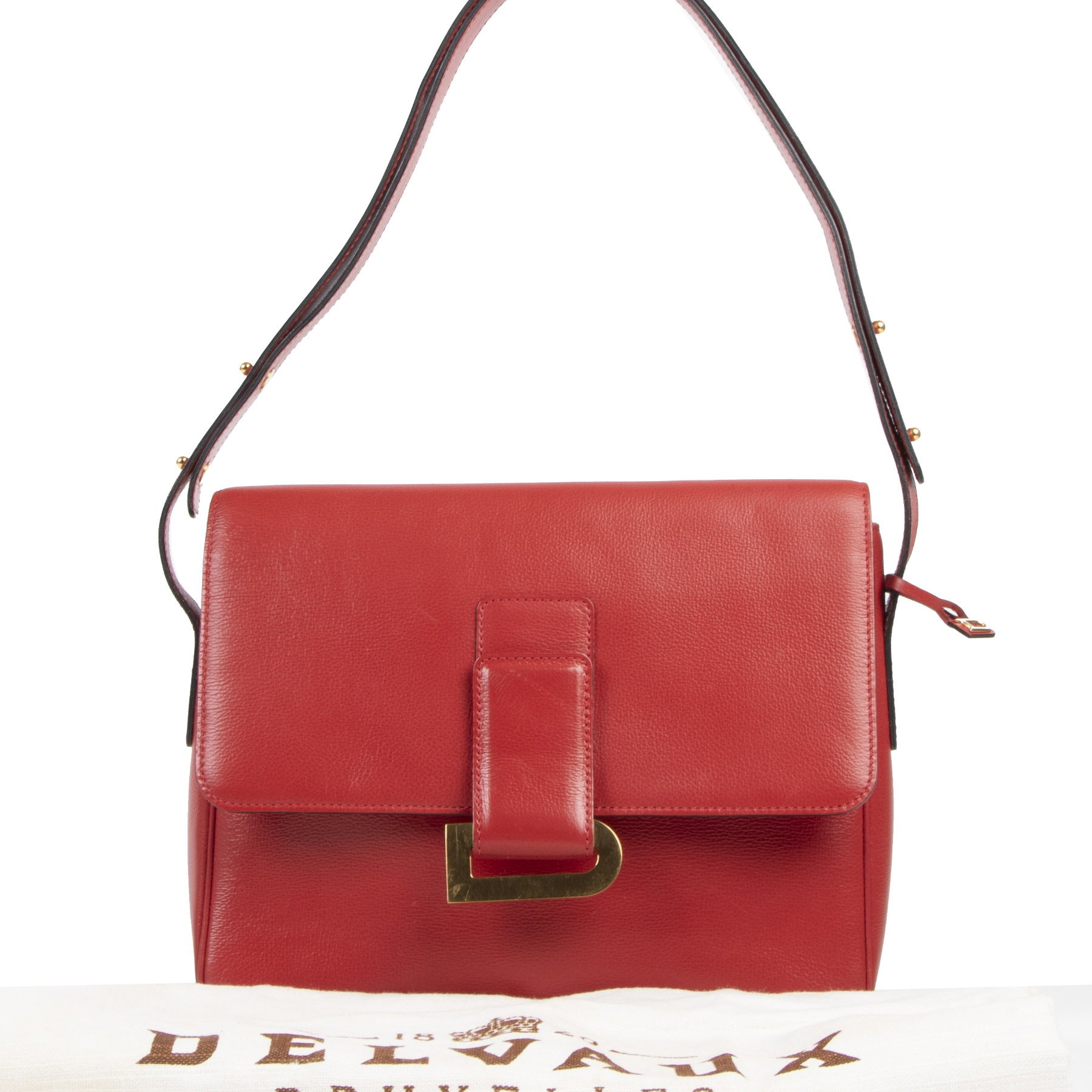 skip the waitinglist Delvaux Red Poirier Shoulder Bag