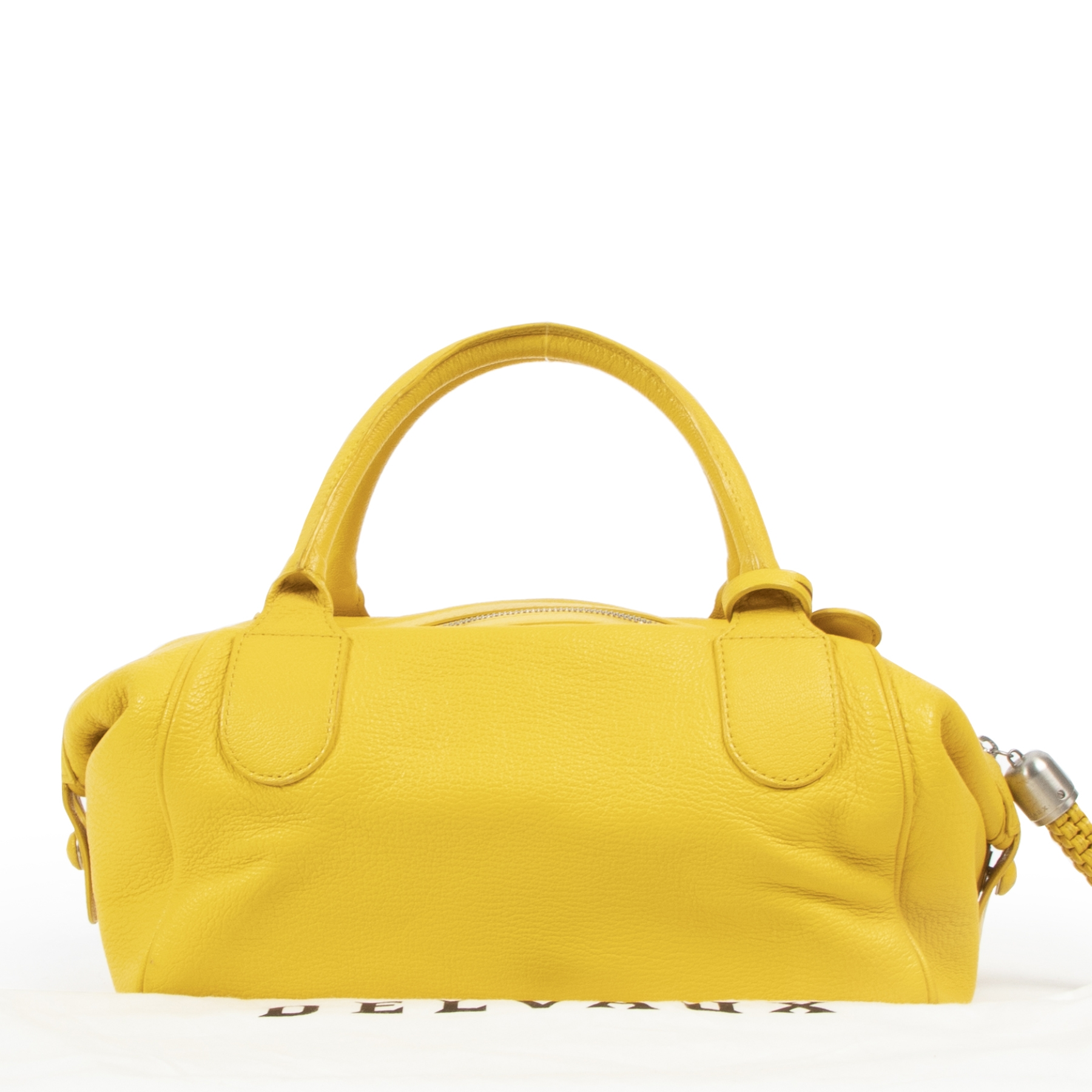 Delvaux Bright Yellow Cube Bag