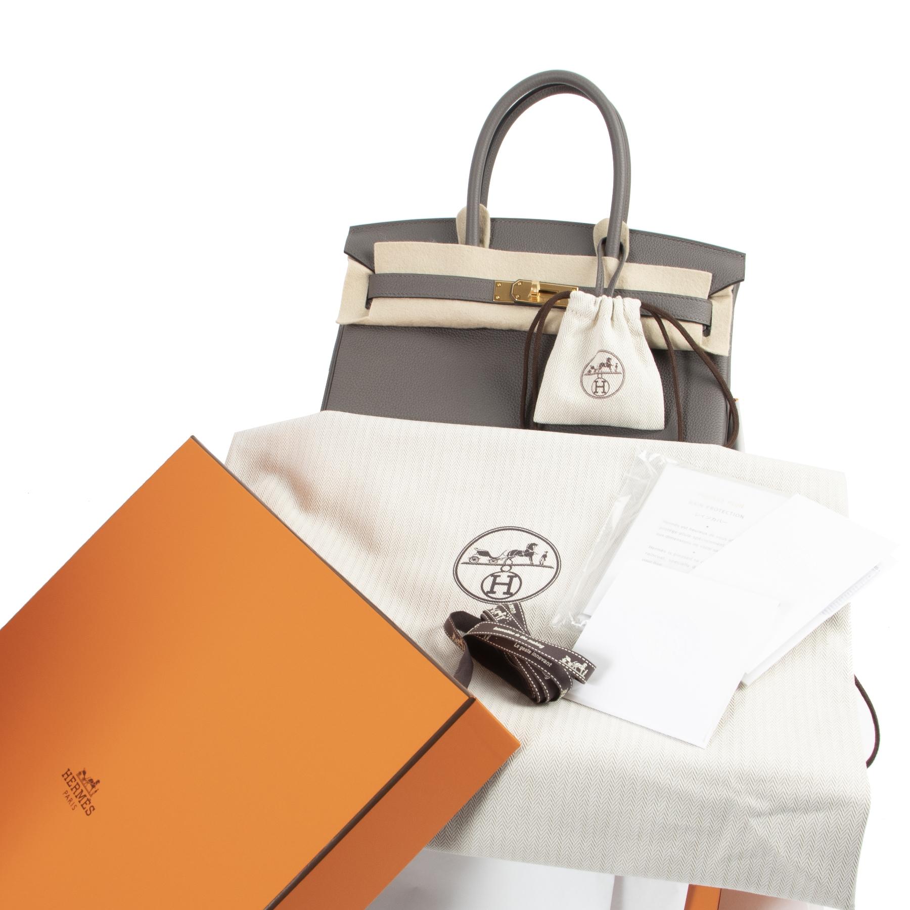 koop veilig onine Hermès Birkin 30 Togo Ettain GHW