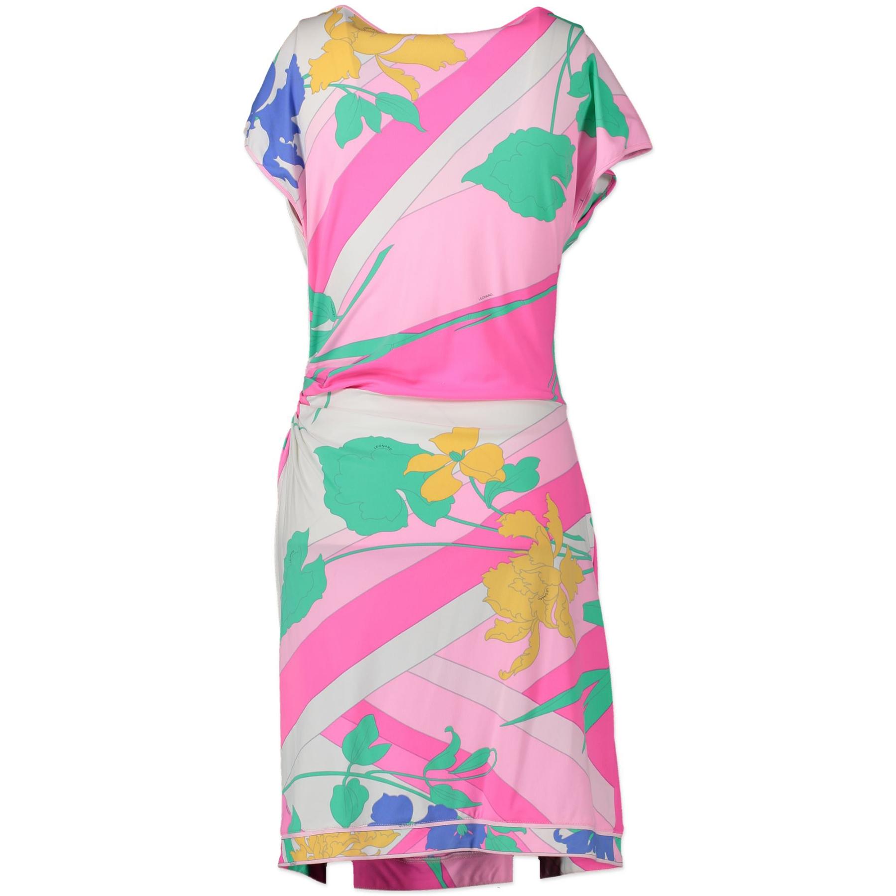 Leonard Fuschia Floral Wrap Dress pour le meilleur prix chez Labellov à Anvers