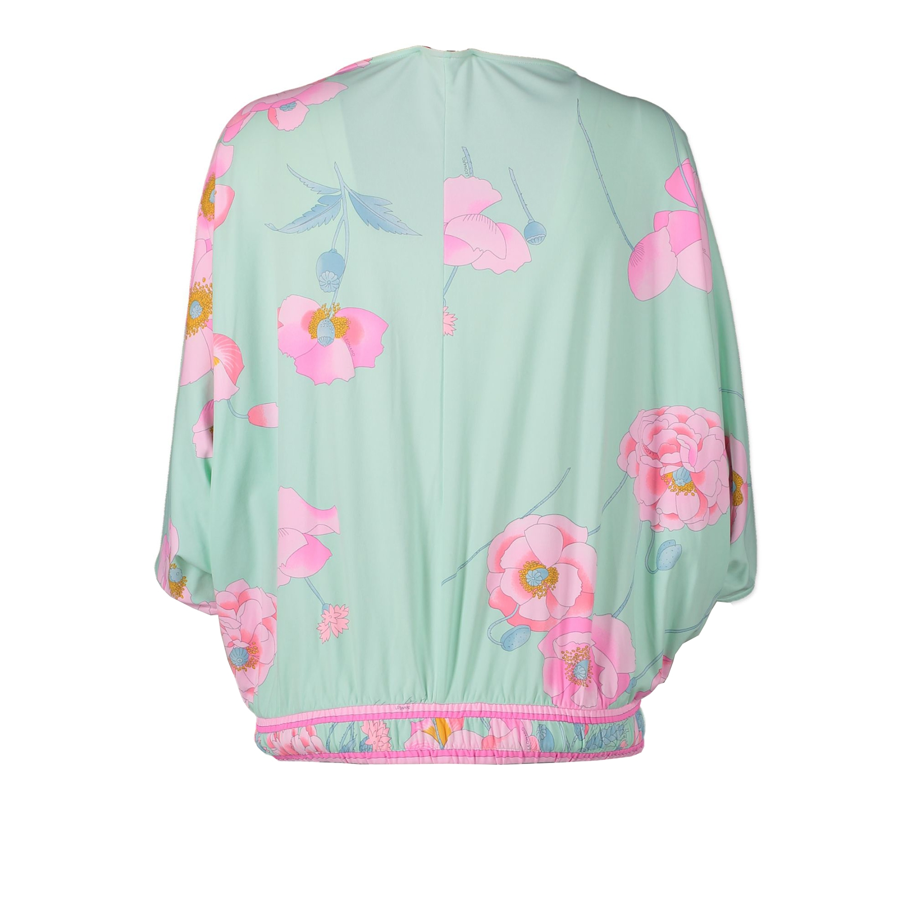 Leonard Green Floral Wrap Top - IT38 - for sale online