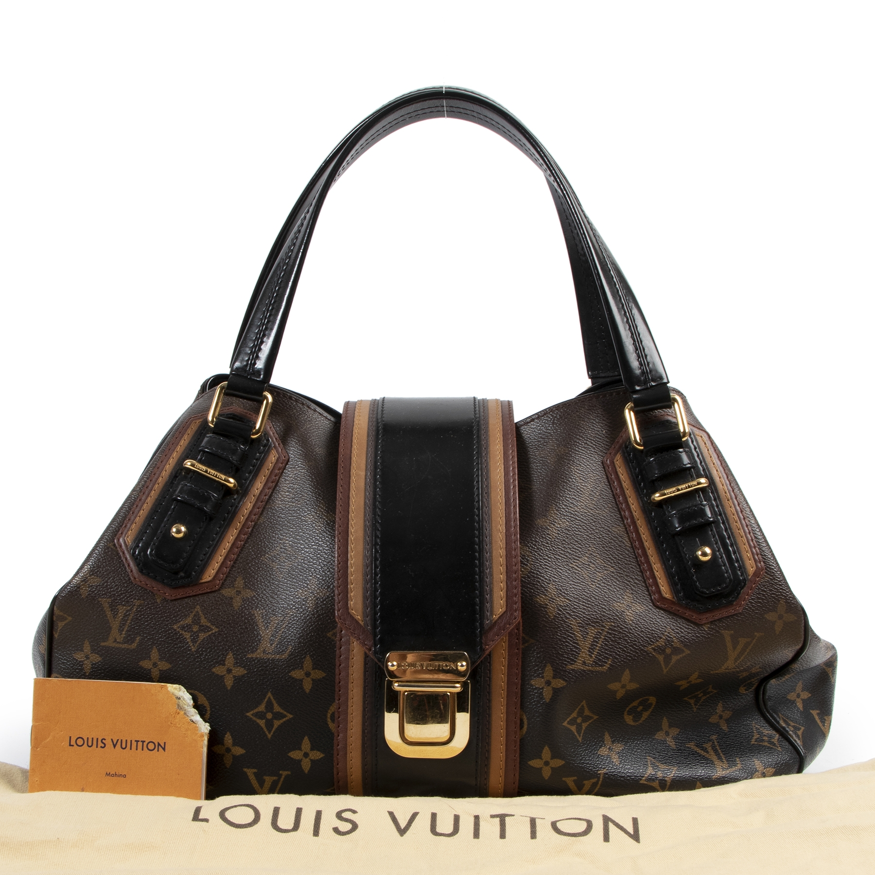 shop safe online Louis Vuitton Limited Edition Noir Monogram Mirage Griet Bag