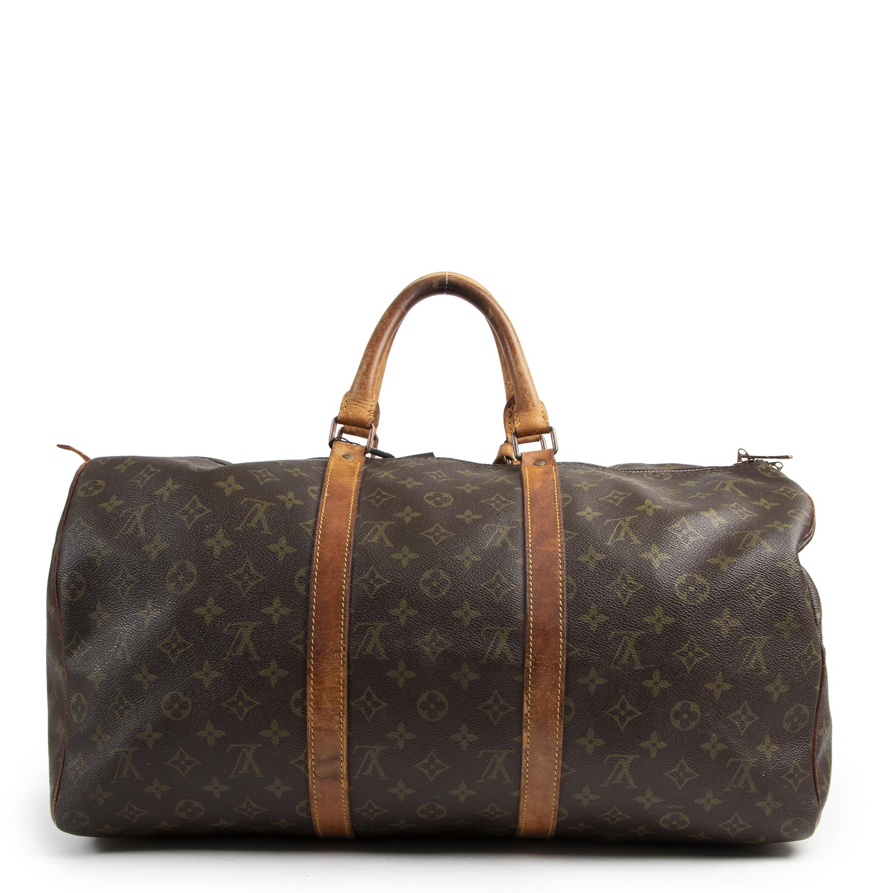 Authentic secondhand Louis Vuitton Monogram Keepall 50 Bag designer bags fashion luxury vintage webshop safe secure online shopping