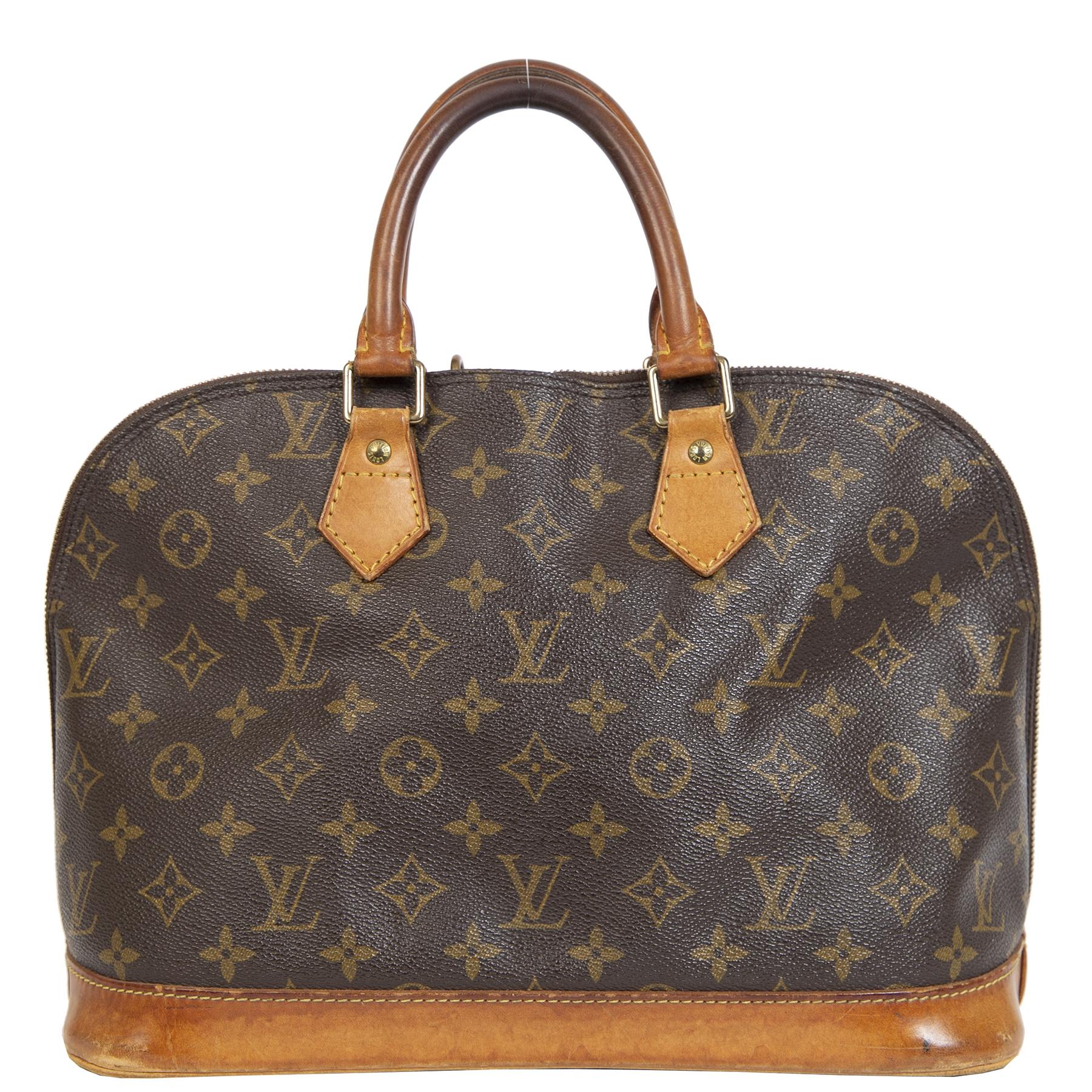 Authentieke Tweedehands Louis Vuitton Monogram Alma PM Bag juiste prijs veilig online shoppen luxe merken webshop winkelen Antewerpen België mode fashion