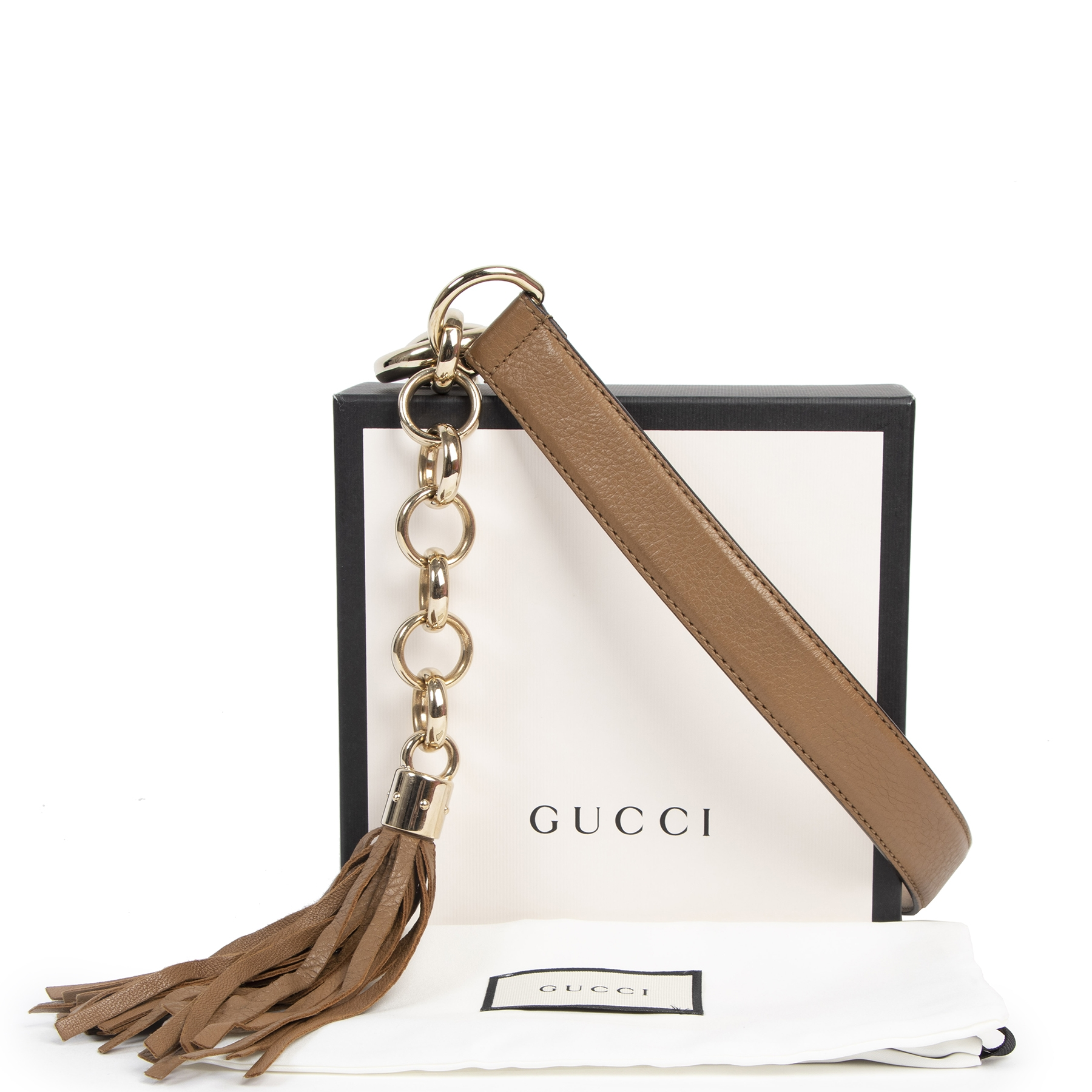 Authentic secondhand  Gucci Camel Leather Horsebit Tassel Belt - Size 85 designer accessories brands fashion luxury vintage webshop safe secure online shopping