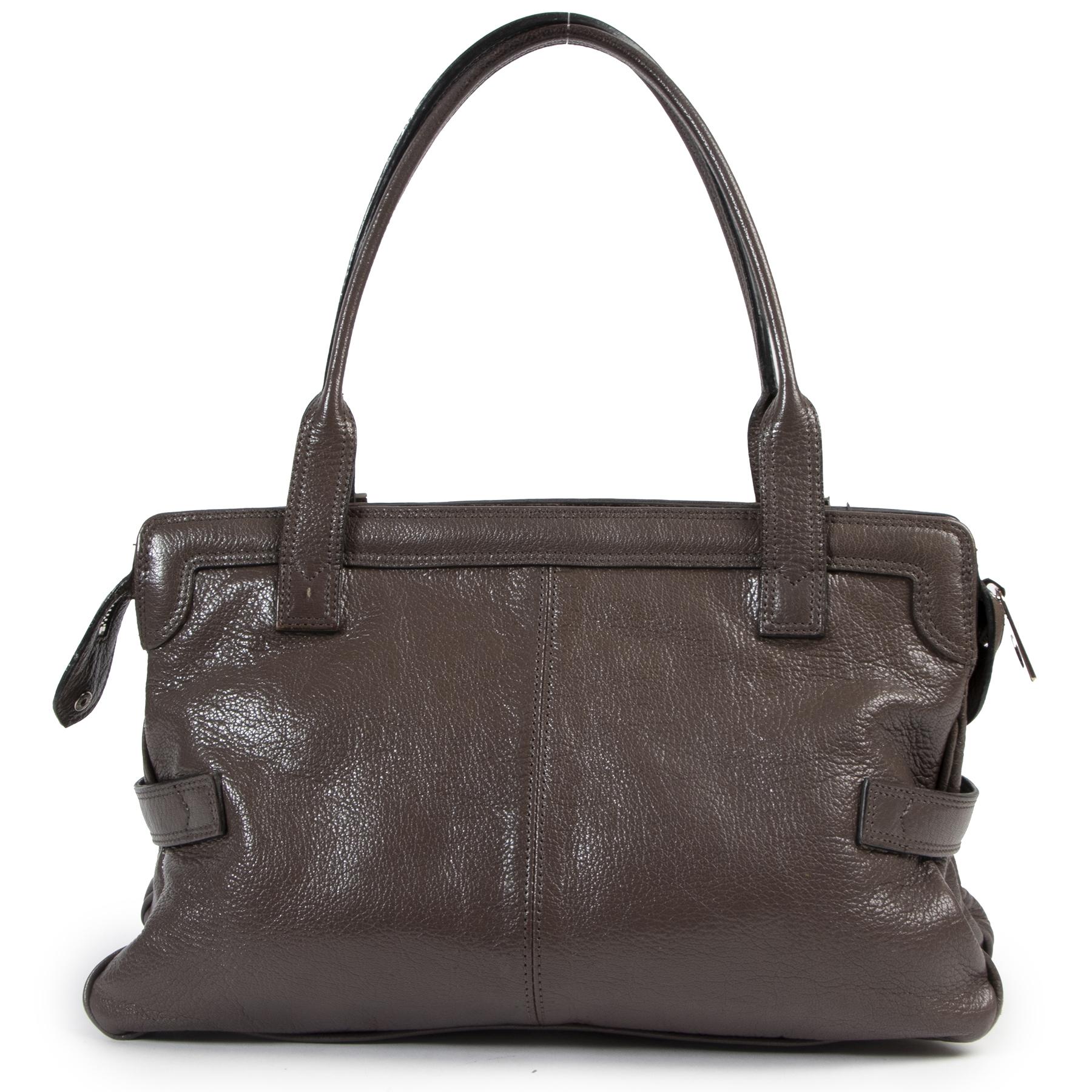 Authentic secondhand Mulberry Brown Leather Shoulder Bag designer bags fashion luxury vintage webshop safe secure online shopping