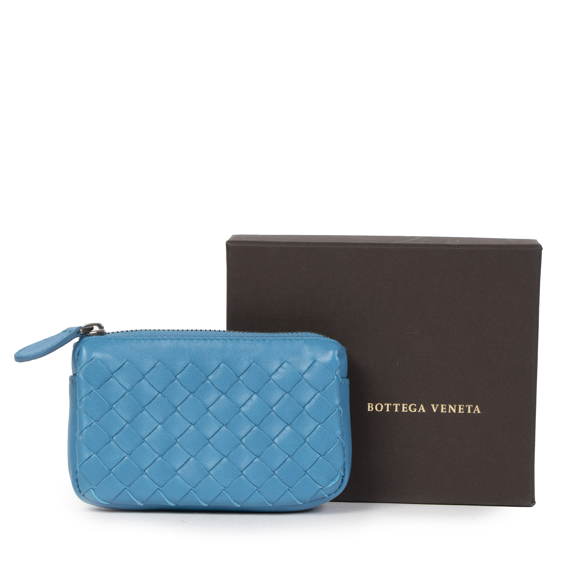Koop en verkoop uw authentieke designer Bottega Veneta Small Blue Coin Purse