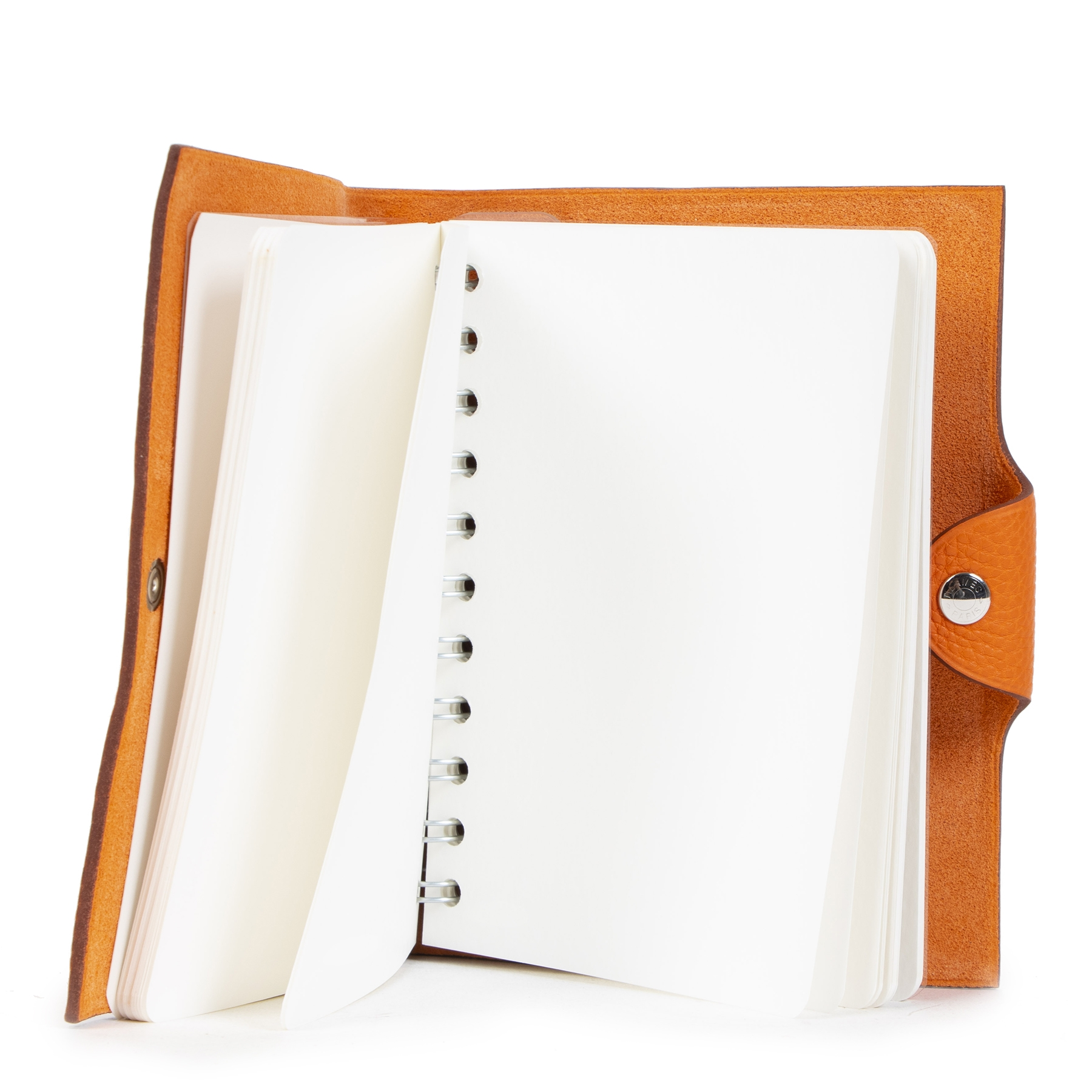 Authentieke Tweedehands Hermès Orange Togo Leather Notebook juiste prijs veilig online shoppen luxe merken webshop winkelen Antwerpen België mode fashion
