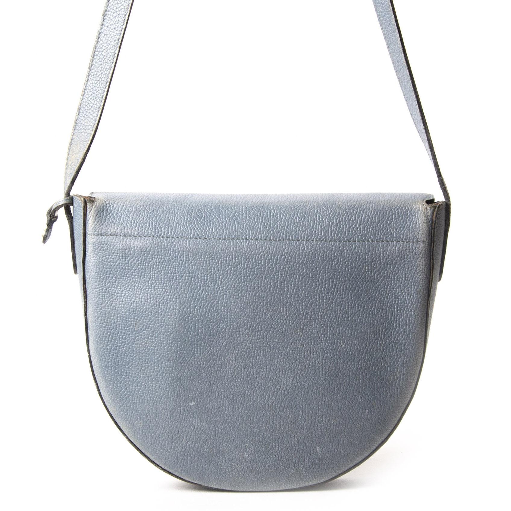 Delvaux Blue Cut Out Leather Shoulder Bag