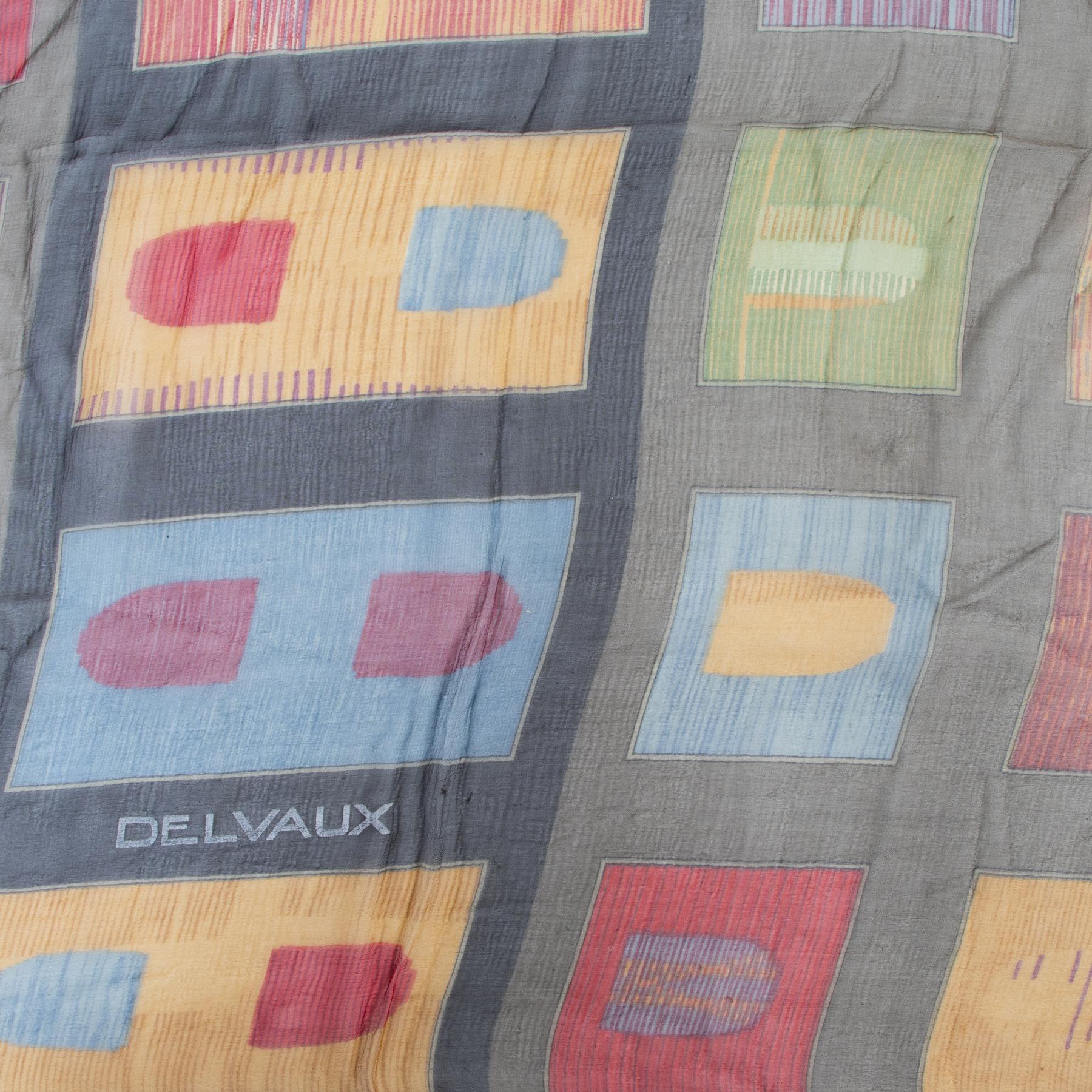Delvaux Multicolor D Logo Silk Scarf safe online