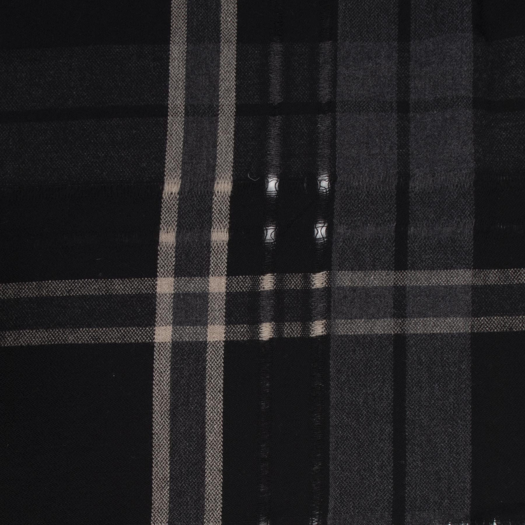 Balmain Black Check Print Scarf