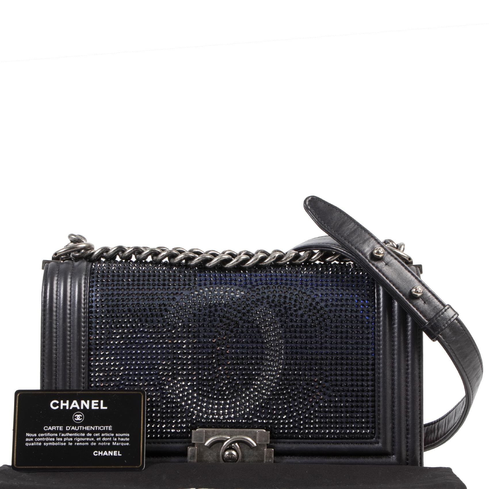 koop veilig online tegen de beste prijs limited Chanel Metallized CC Boy Flap Bag