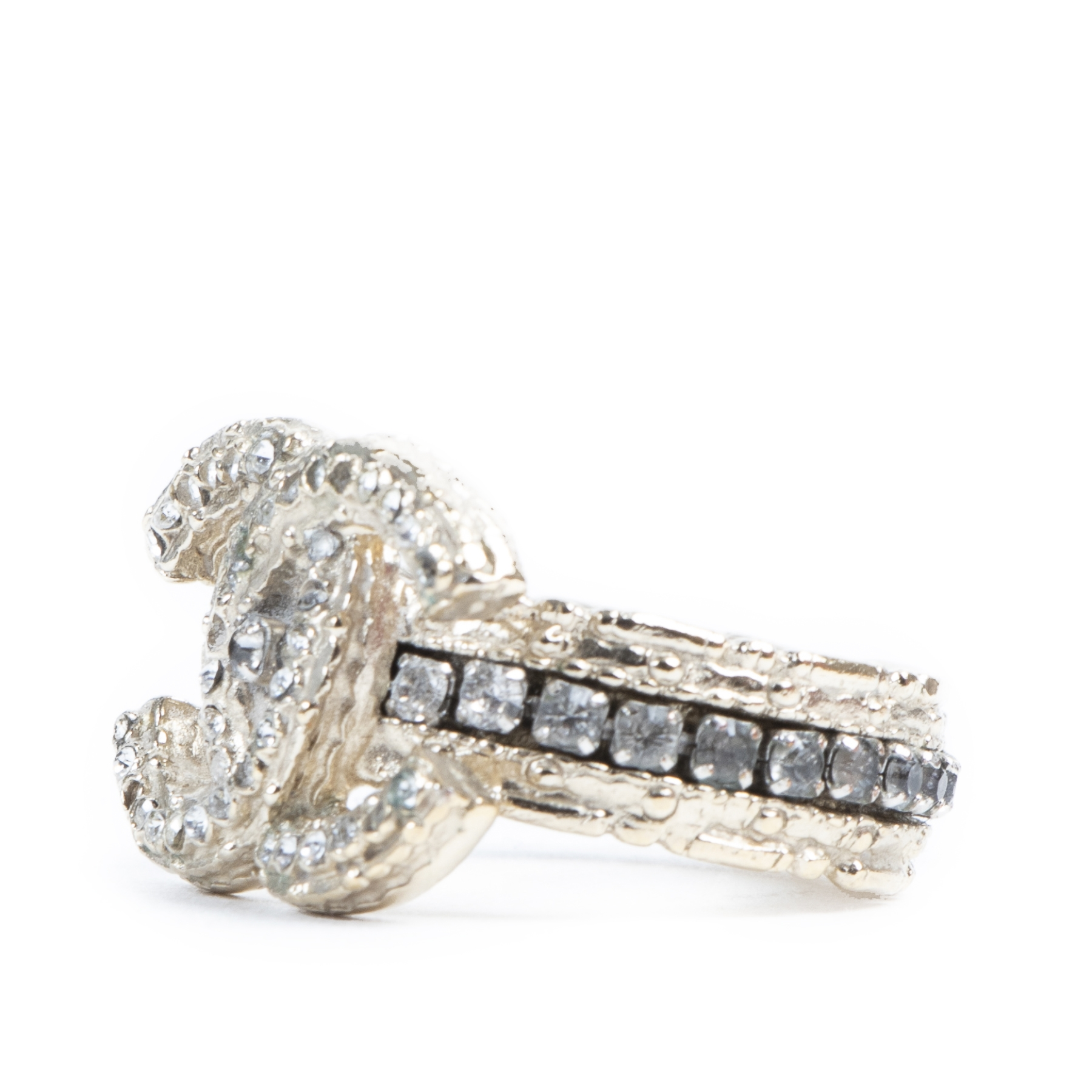 Chanel 2011 Double CC Crystal Ring