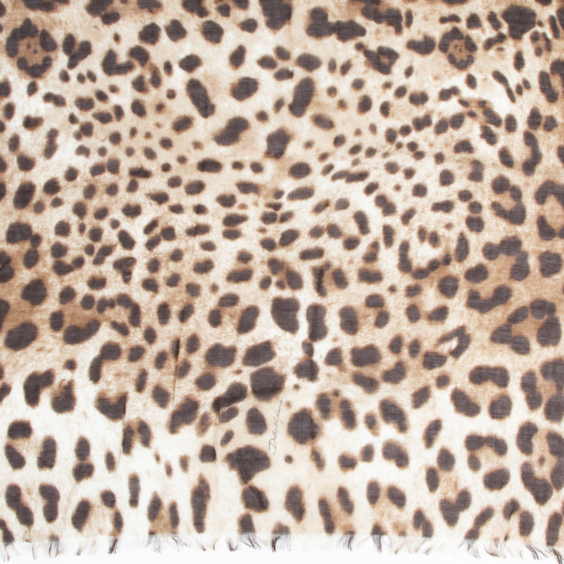 Authentic secondhand Dolce & Gabbana Leopard Print Scarf designer accessories fashion luxury vintage webshop safe secure online shopping high end brands