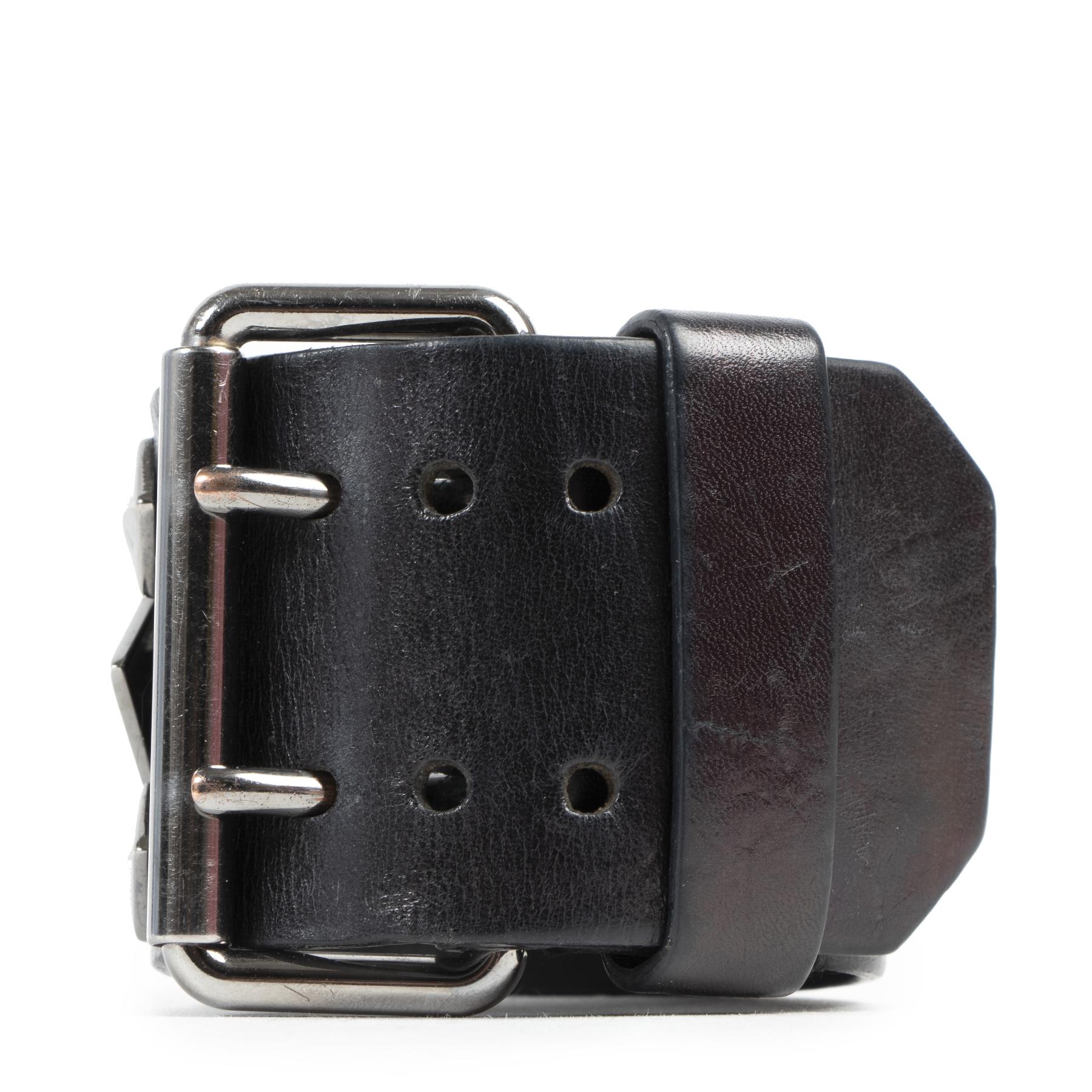 Authentieke Tweedehands Givenchy Black Leather Stud Bracelet juiste prijs veilig online shoppen luxe merken webshop winkelen Antwerpen België mode fashion