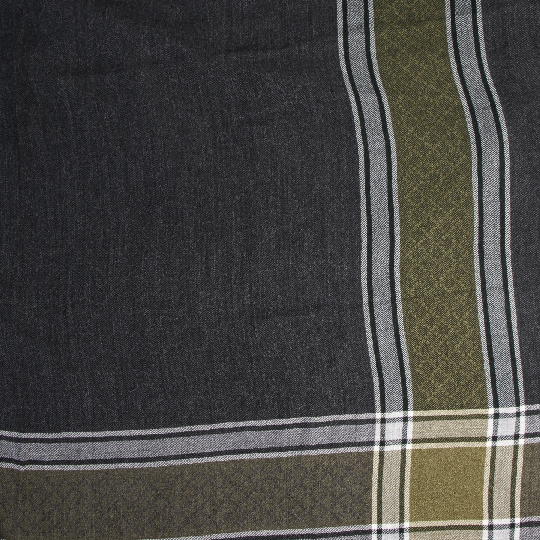 Gucci Green And Grey GG Check Scarf