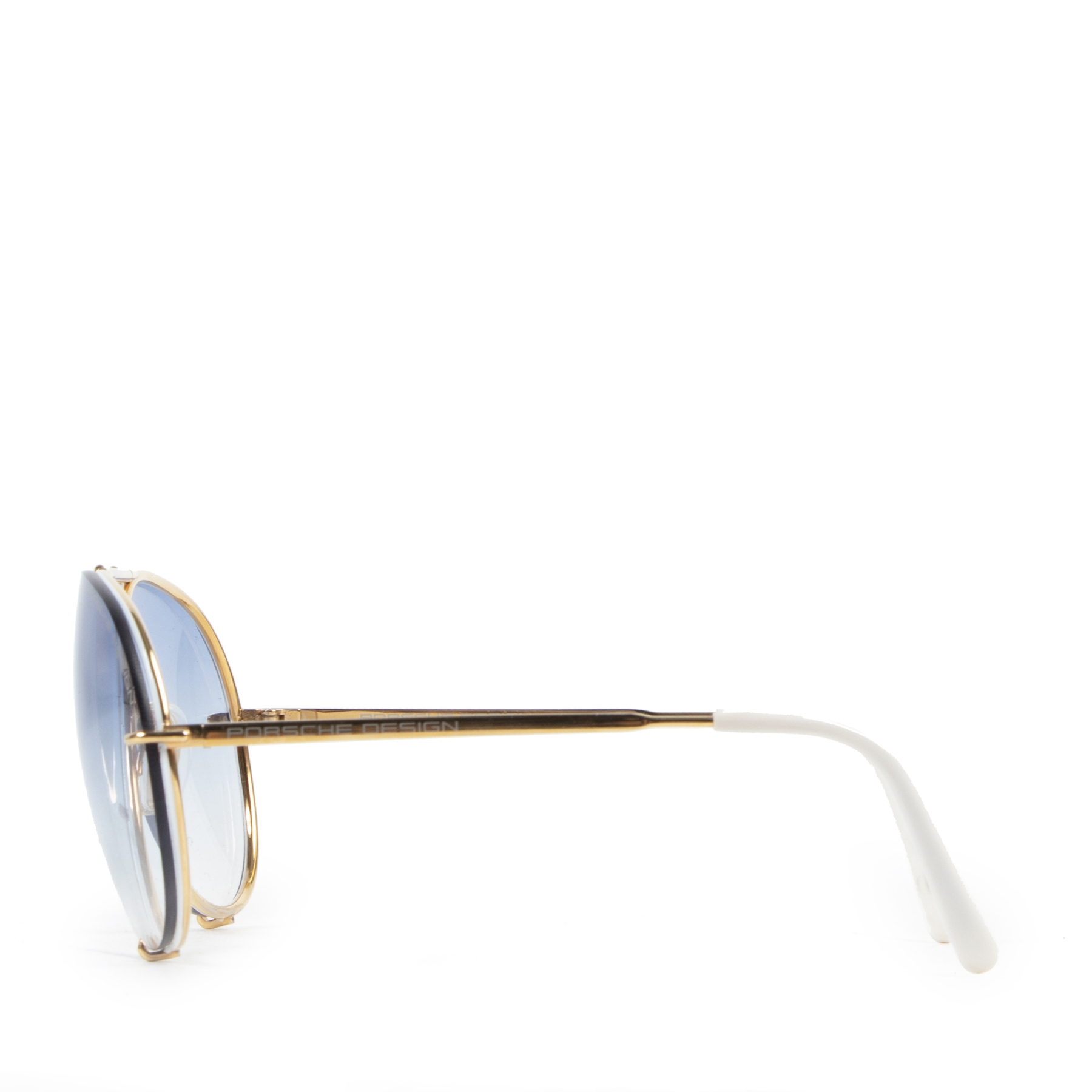 Authentieke tweedehands vintage Porsche Design Transparant Sunglasses koop online webshop LabelLOV