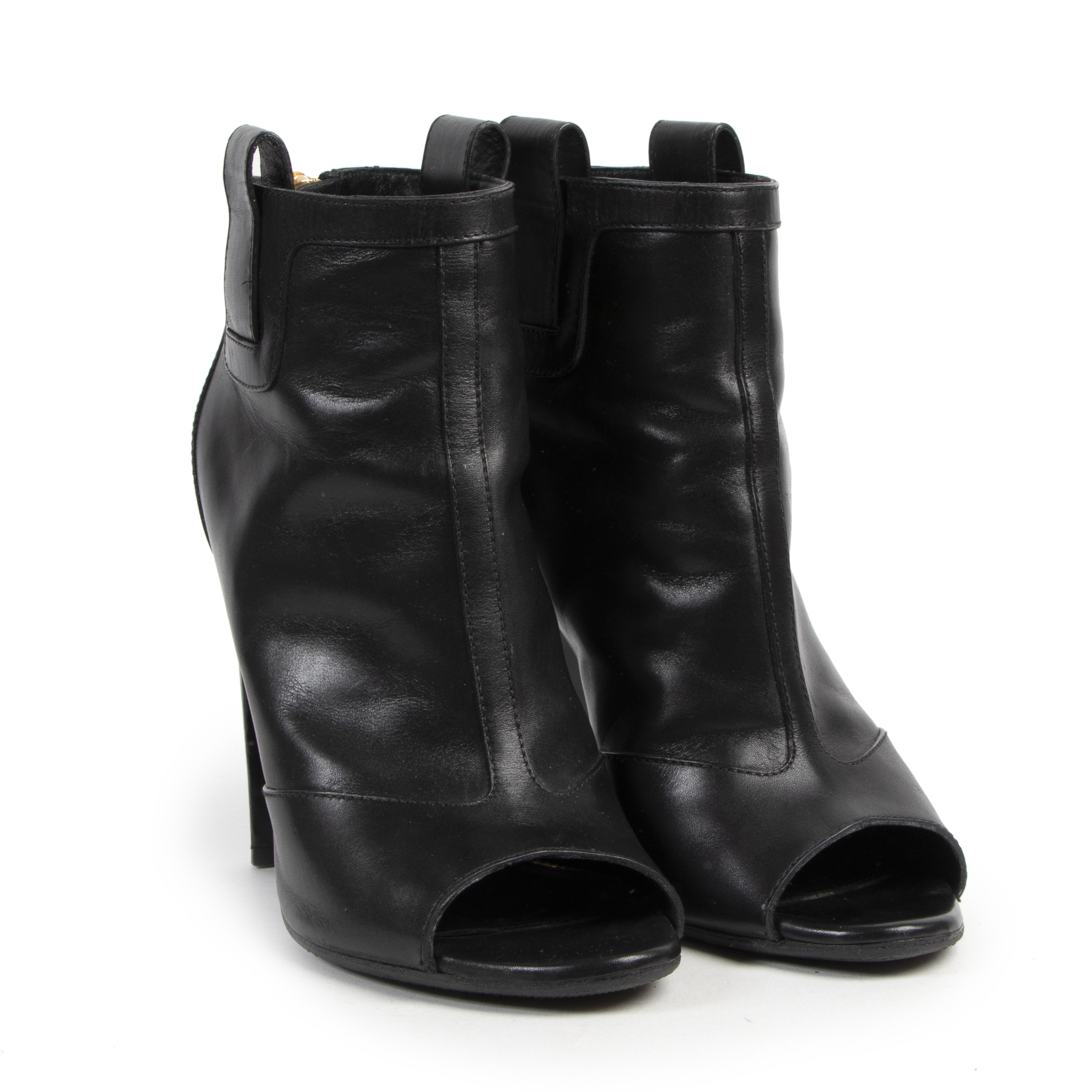 Tom Ford Black Leather Ankle Boots - Size 39