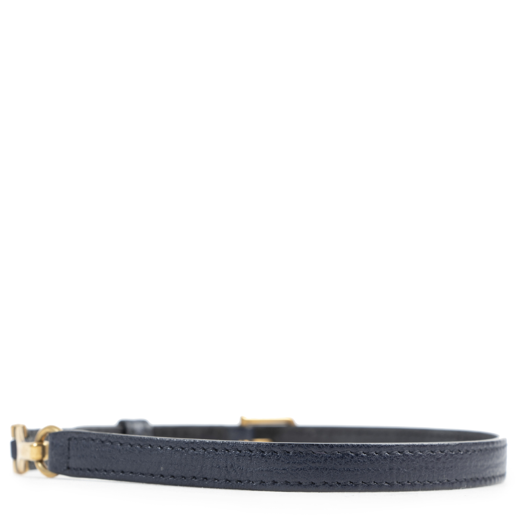 Saint Laurent Blue Leather Bracelet