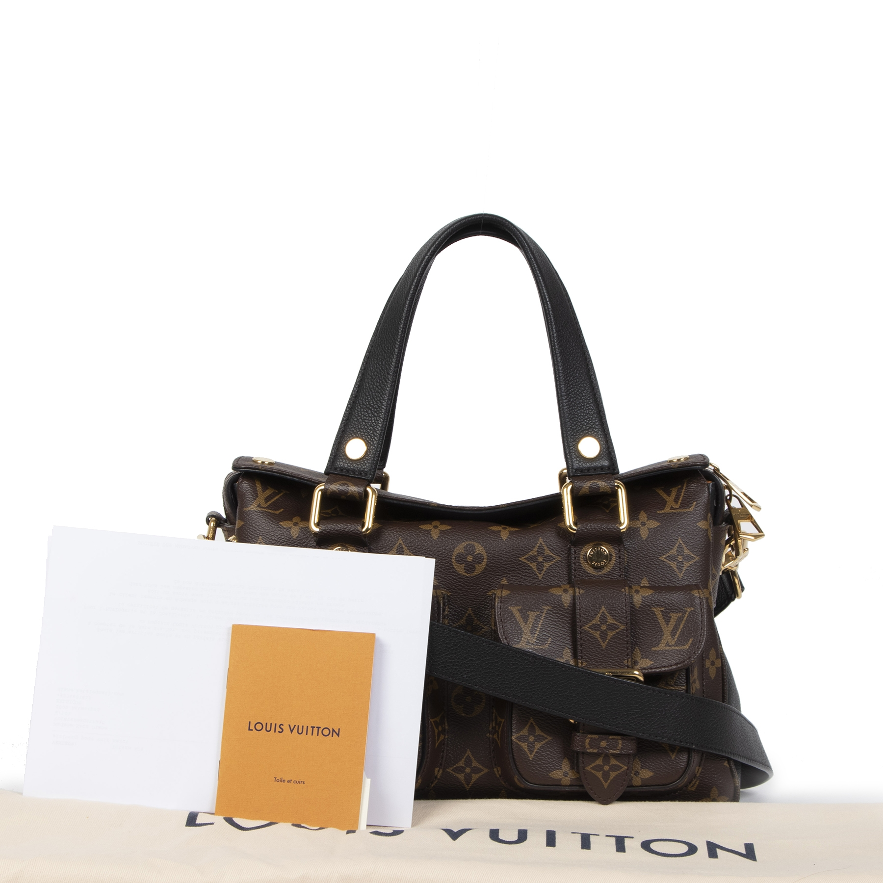 Authentique seconde-main vintage Louis Vuitton Monogram Manhattan Shoulder Bag achète en ligne webshop LablelLOV