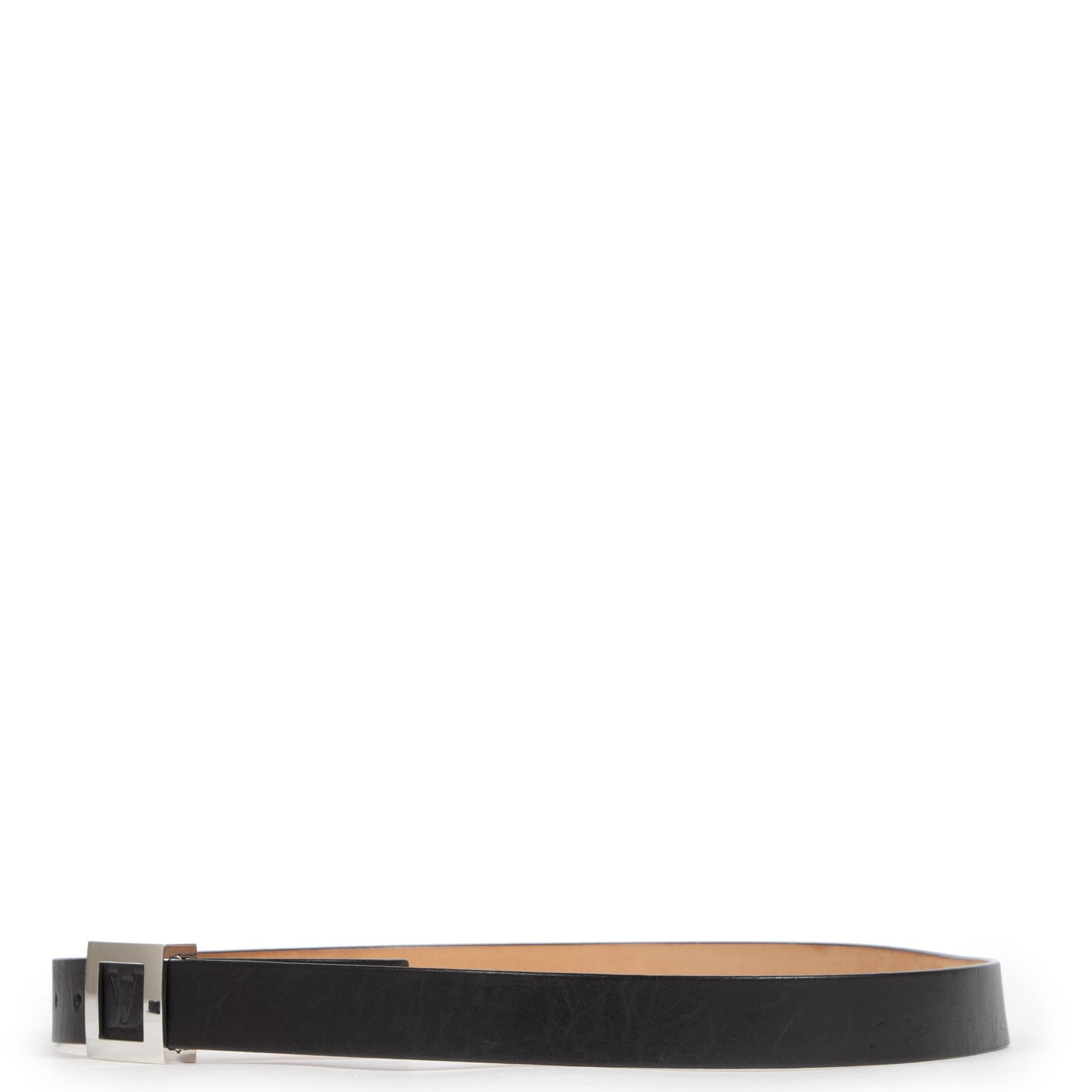 Louis Vuitton Black Square Buckle Belt - Size 100 koop veilig online aan de beste