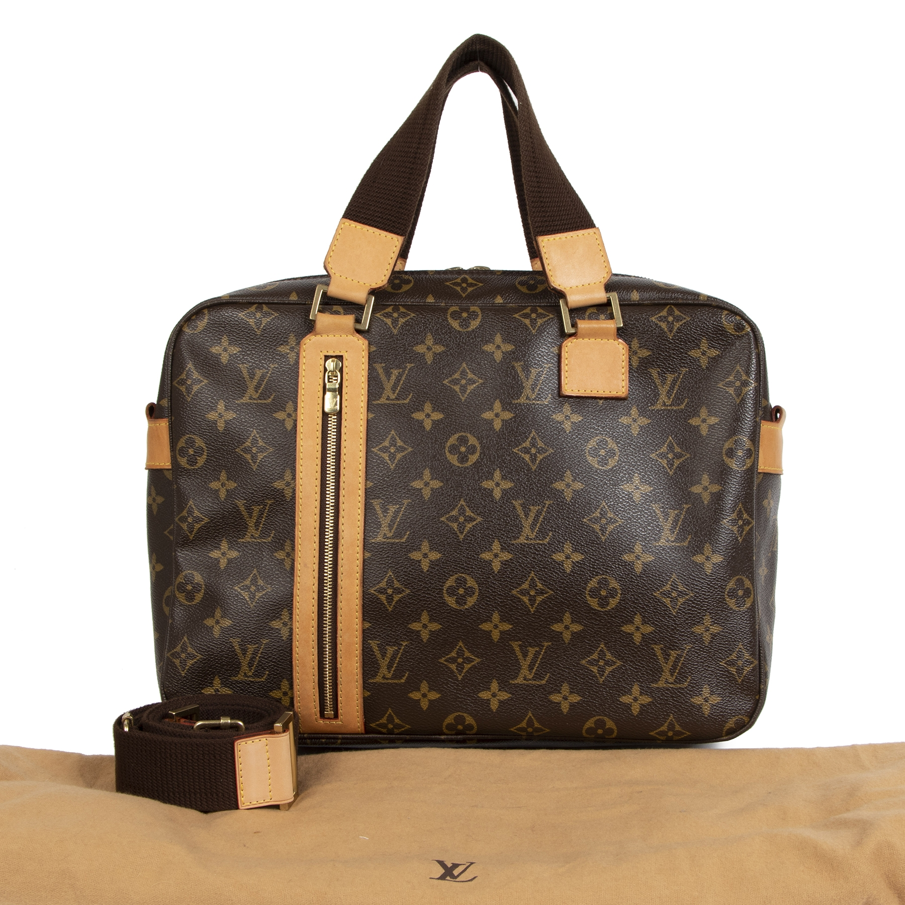 Authentieke tweedehands vintage Louis Vuitton Monogram Bosphore Messenger Bag koop online webshop LabelLOV