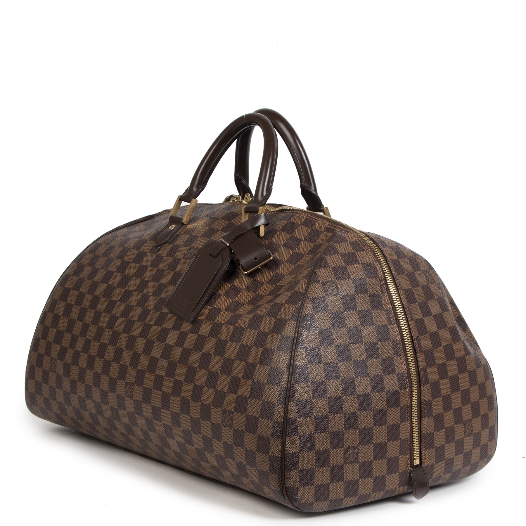 acheter en ligne seconde main Louis Vuitton Damier Ebene Ribera GM