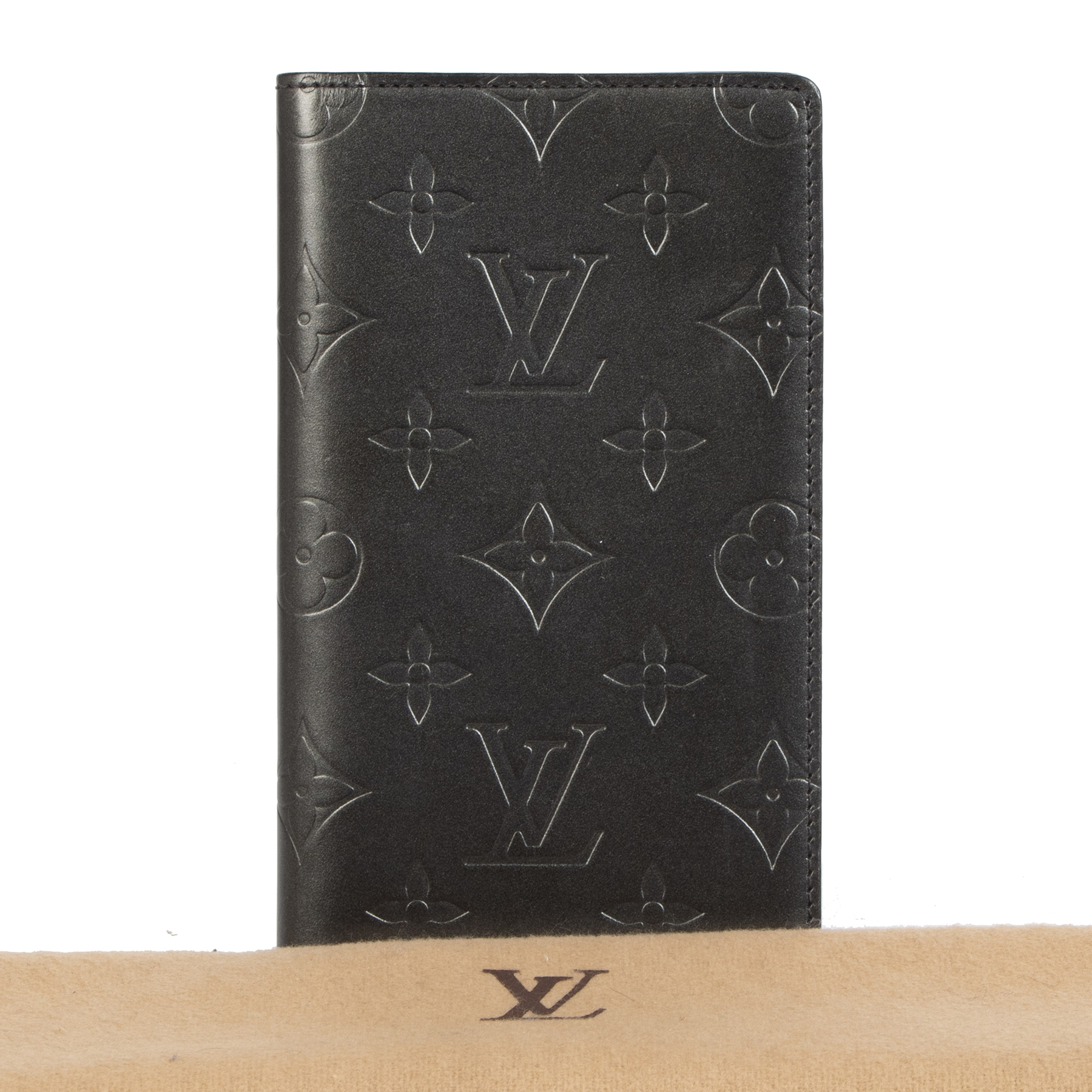 Authentic second-hand vintage Louis Vuitton Monogram Checkbook buy online webshop LabelLOV