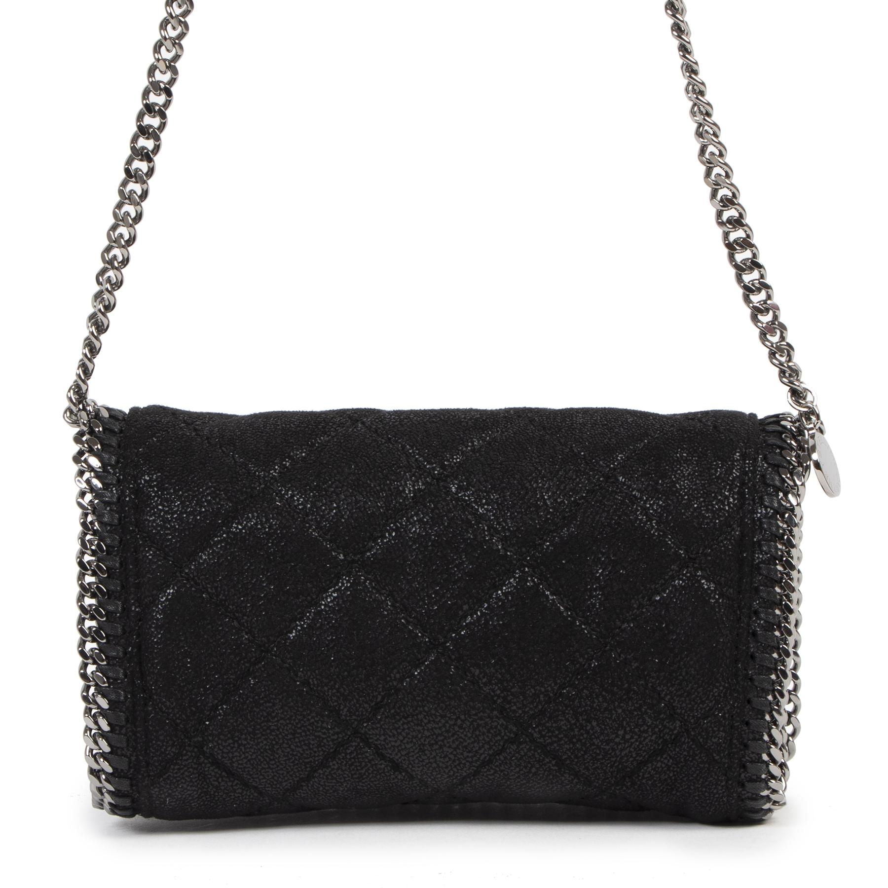 Authentieke Tweedehands Stella McCartney Quilted Falabella Crossbody Bag juiste prijs veilig online shoppen luxe merken webshop winkelen Antwerpen België mode fashion