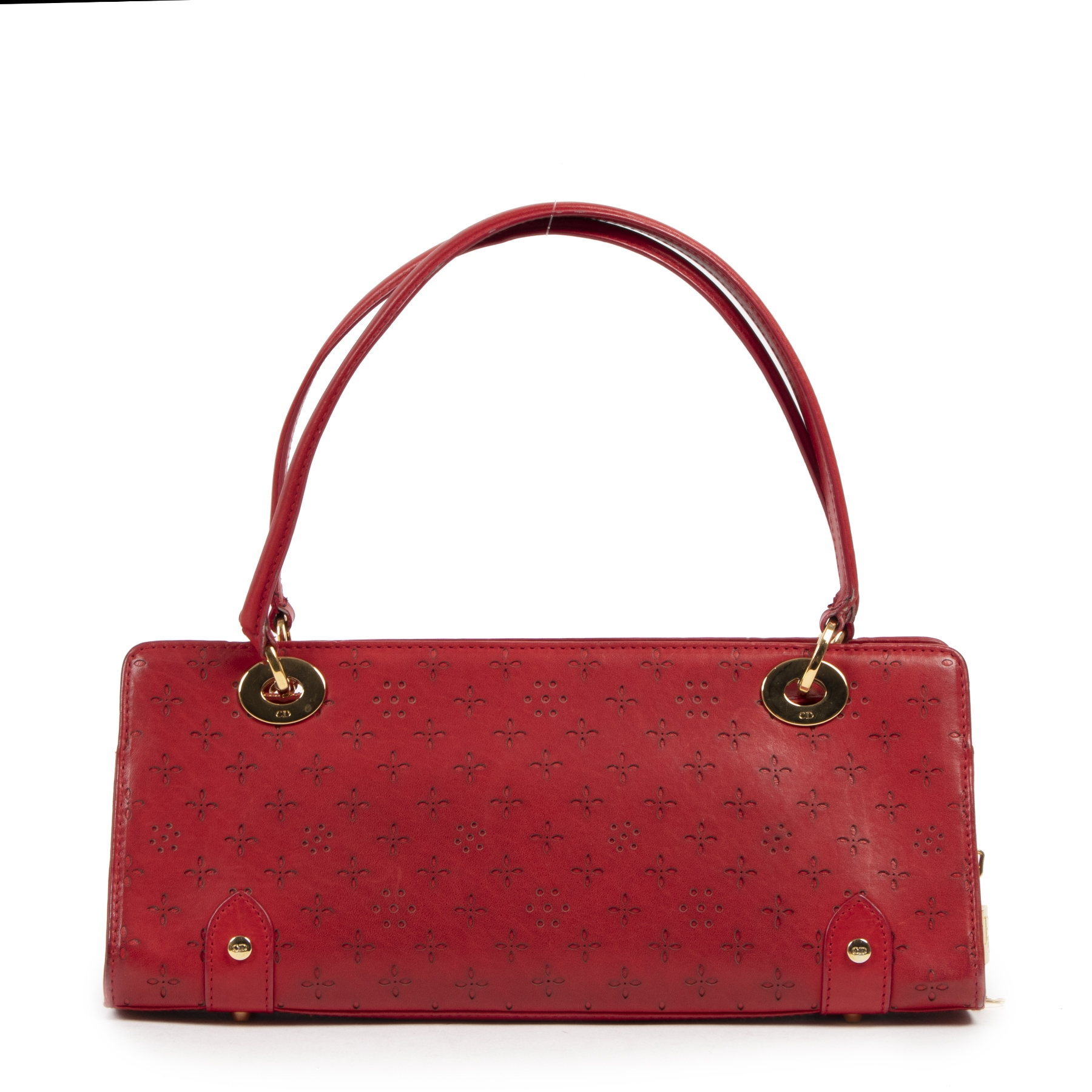 Authentieke Tweedehands Christian Dior Red Baguette Bag  juiste prijs veilig online shoppen luxe merken webshop winkelen Antwerpen België mode fashion
