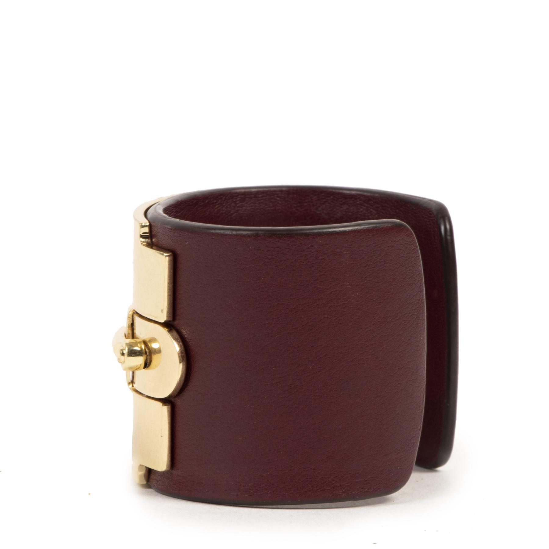 Authentieke Tweedehands Tod's Leather Horsebit Bracelet juiste prijs veilig online shoppen luxe merken webshop winkelen Antwerpen