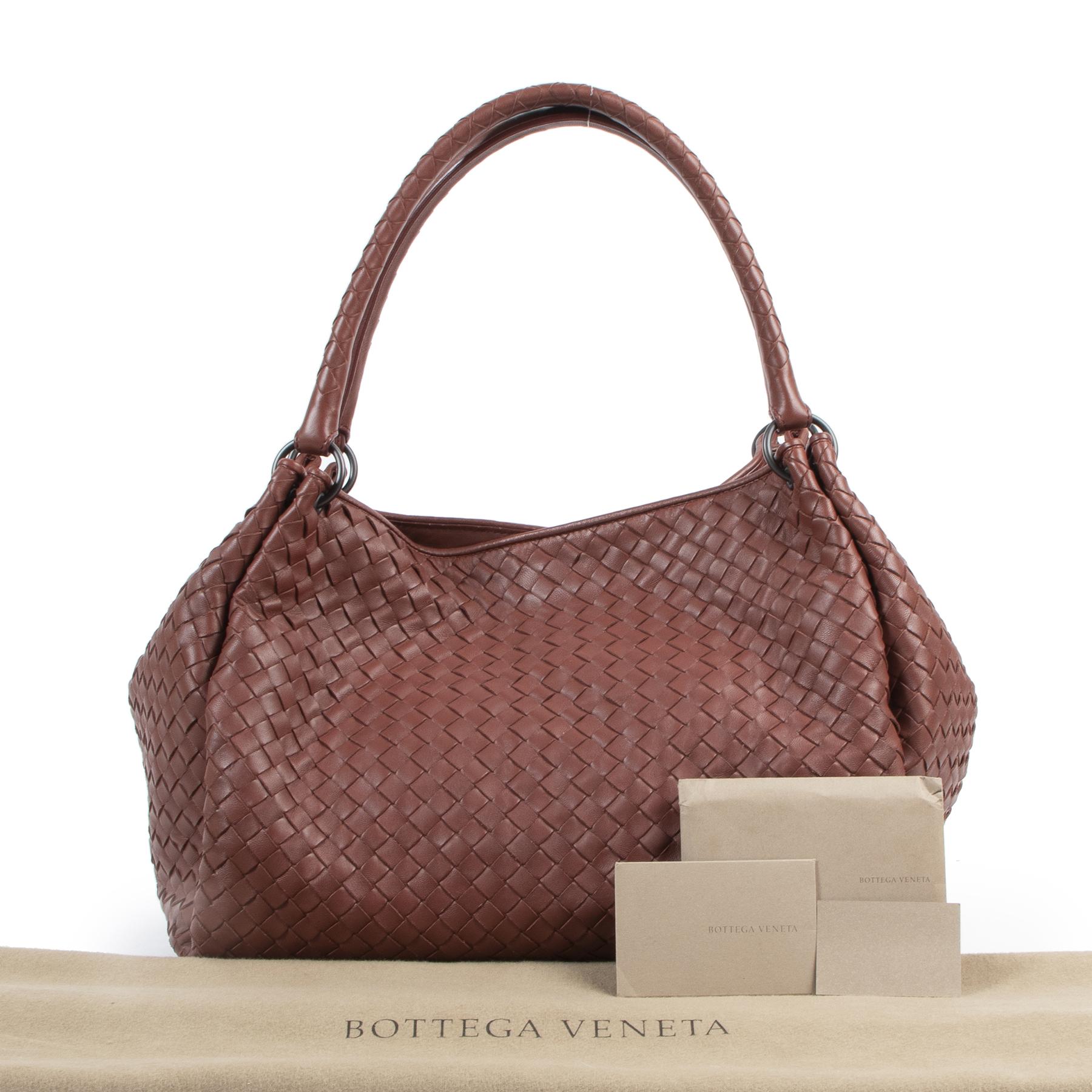 Bottega Veneta Rust Intrecciato Leather Shopper for sale online at Labellov secondhand luxury