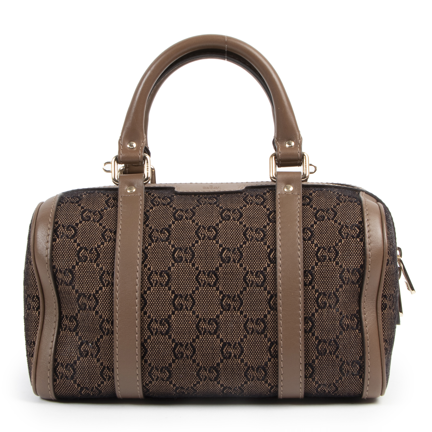 acheter en linge seconde main Gucci Brown Small Boston Bag