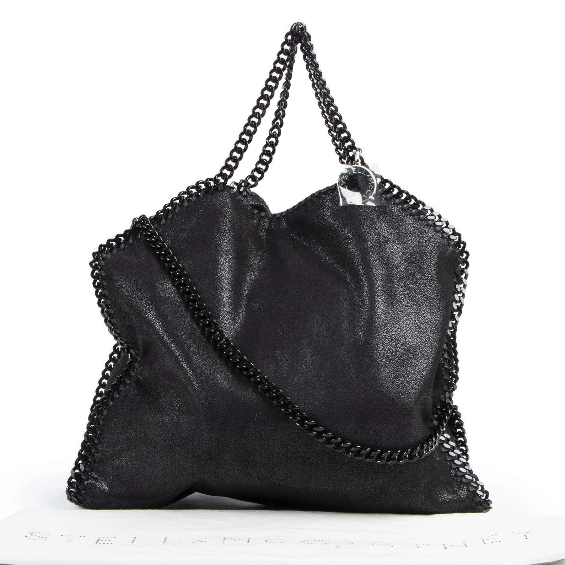 Authentic secondhand Stella McCartney Black Falabella Tote Bag designer bags fashion luxury vintage webshop safe secure online shopping