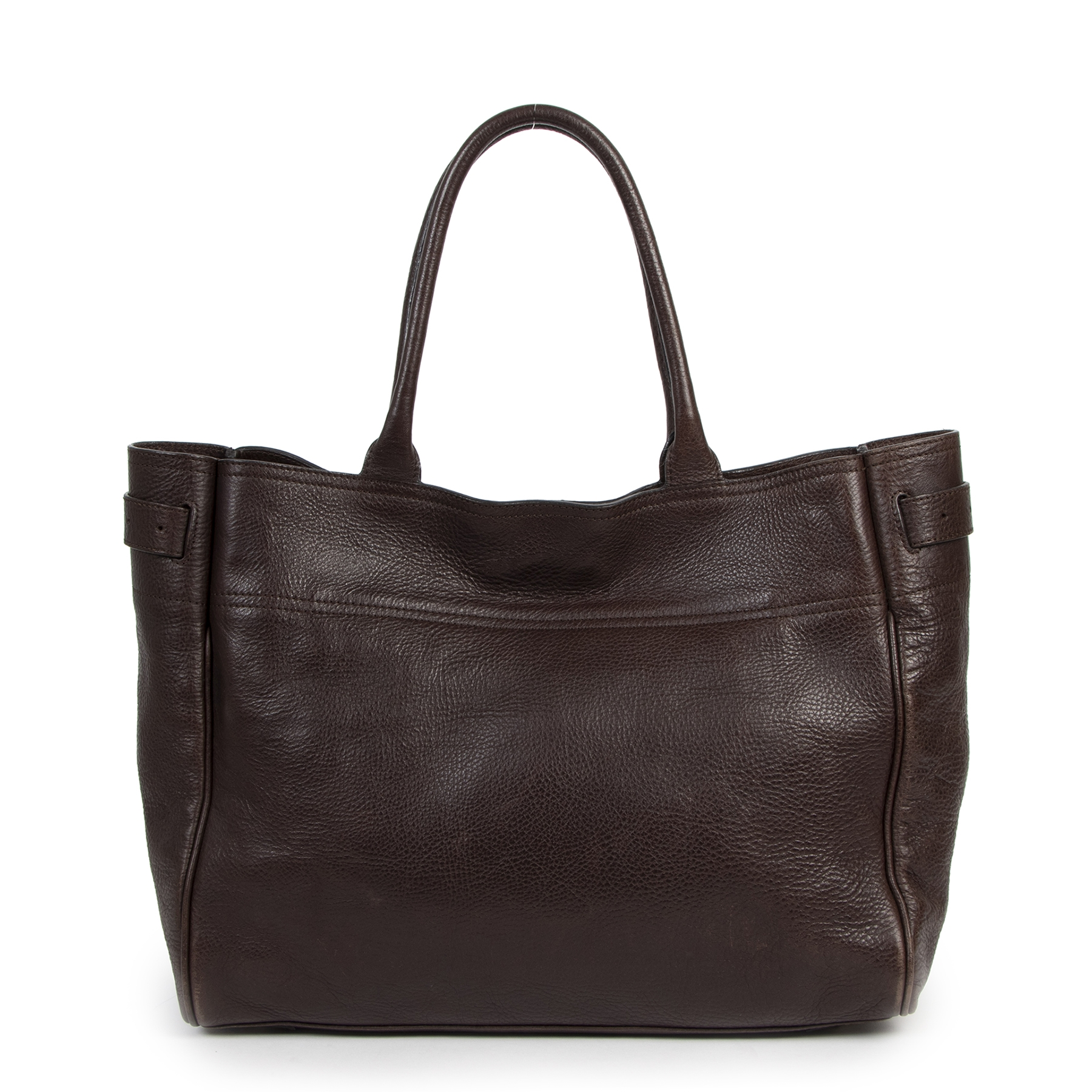 Authentic secondhand Mulberry Dark Brown Bayswater Tote Bag designer bags luxury vintage webshop fashion online shopping