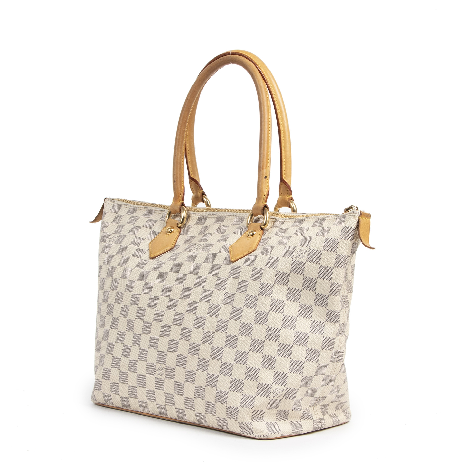 Louis Vuitton Damier Azur Saleya Shoulder Bag online available at Labellov secondhand luxury