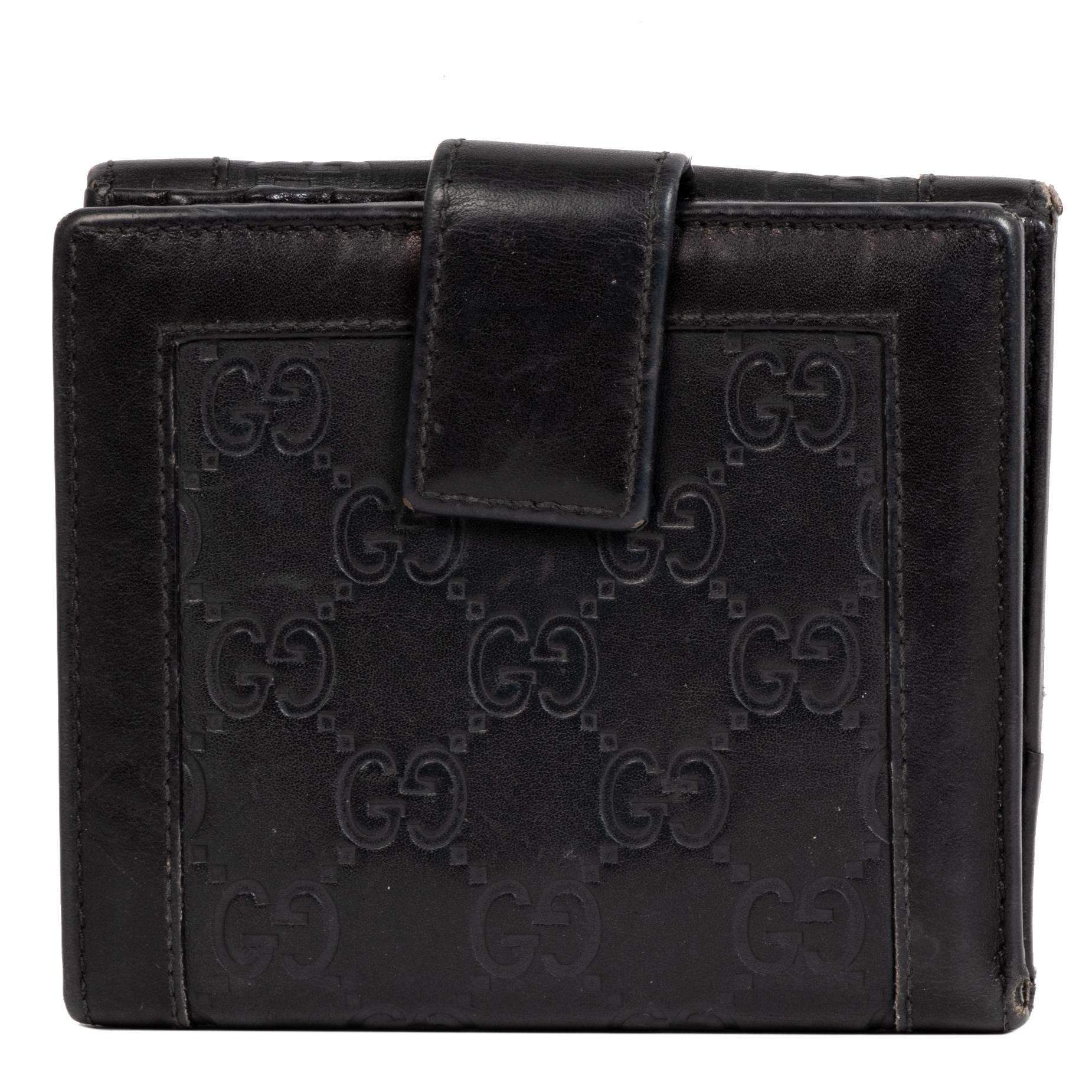 acheter en linge seconde main Gucci Black Monogram Wallet